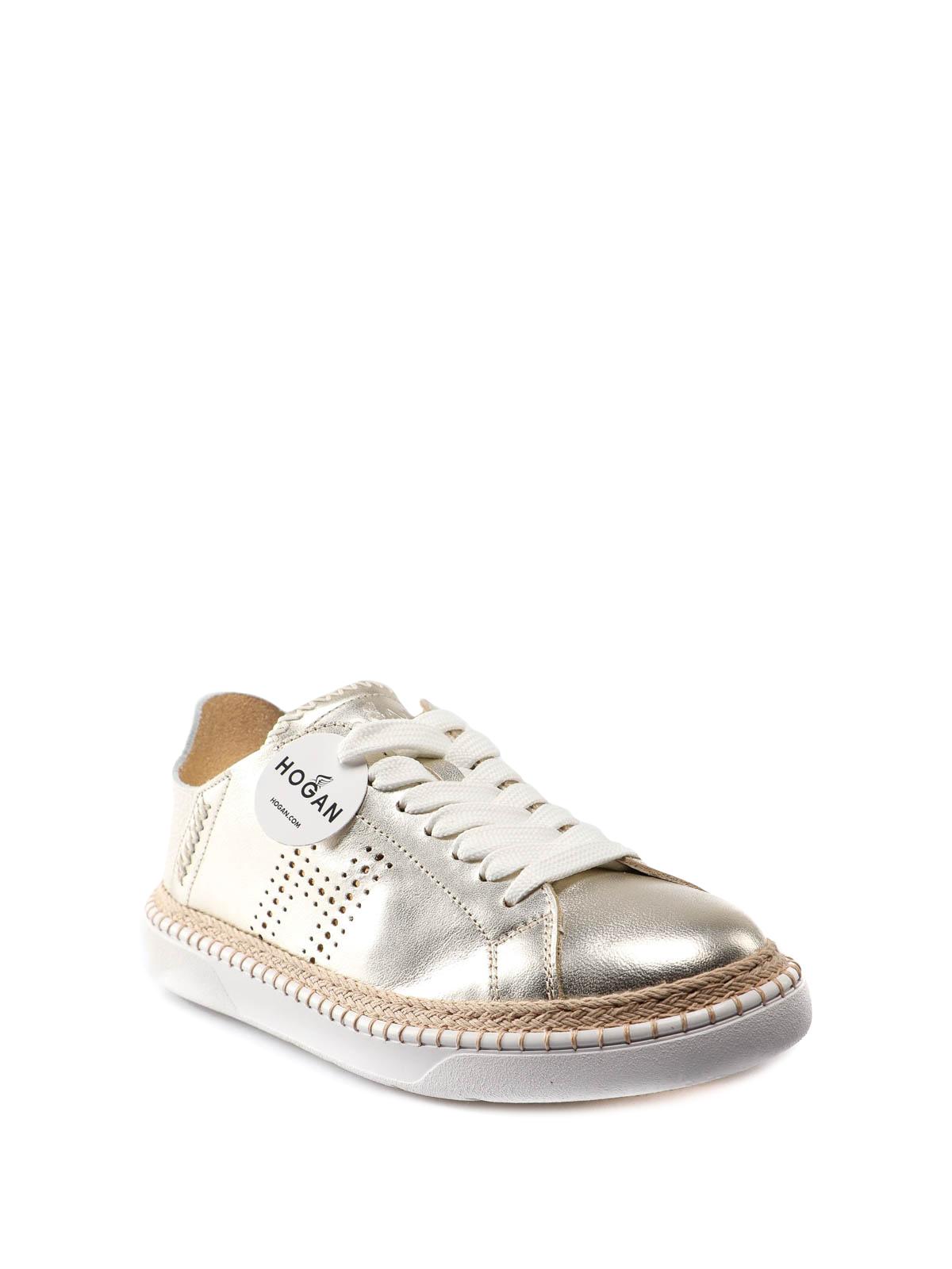 Hogan - H327 platinum leather sneakers - trainers - HXW4200BM60KO00QEF