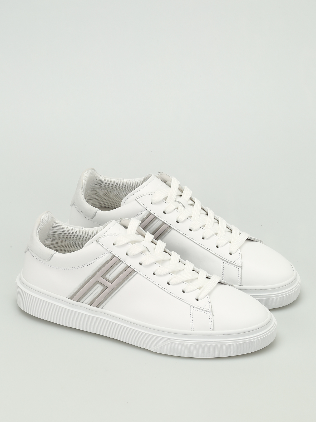 Hogan - H340 leather low top trainers - trainers - HXM3400J300C8KB001