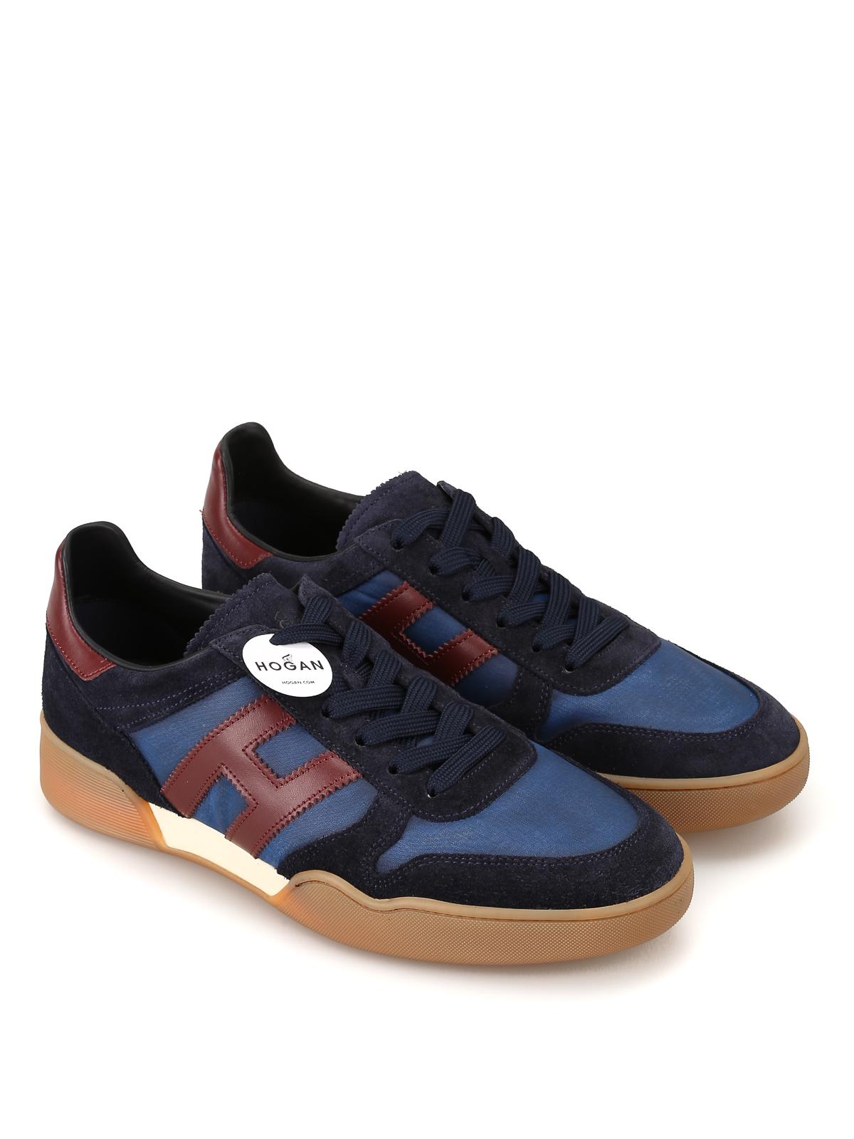 Trainers Hogan - H357 blue sporty sneakers - HXM3570AC41JCM894F