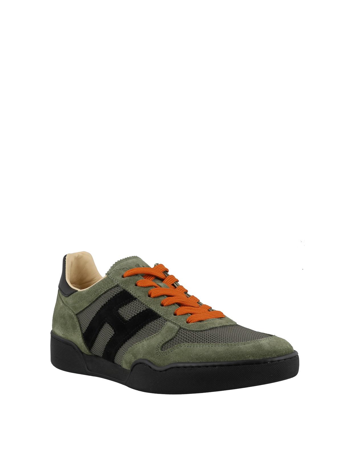 Trainers Hogan - H357 suede green sneakers - HXM3570AC40IPJ558L