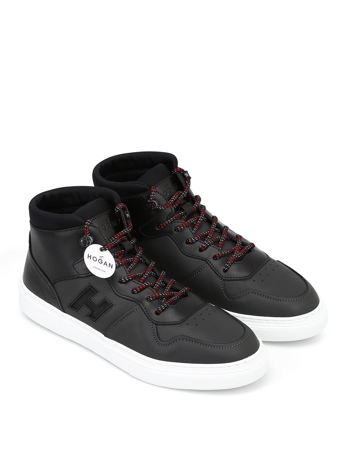 4dd3fcceec HOGAN: sneakers online - Sneaker alte H365 in pelle modello basket