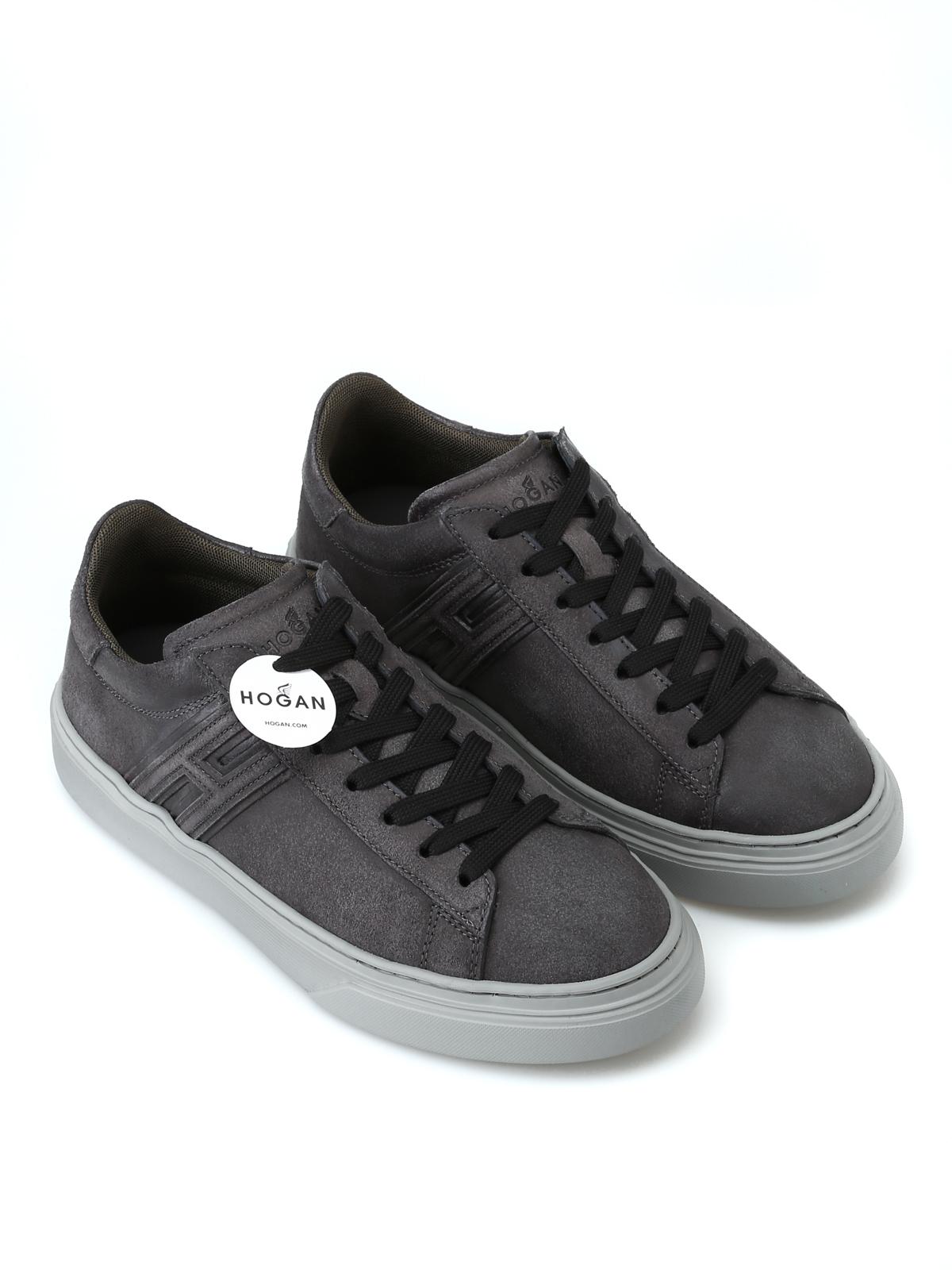 Sneakers Hogan - Sneaker H365 grigie in pelle - HXM3650J310GZXB612