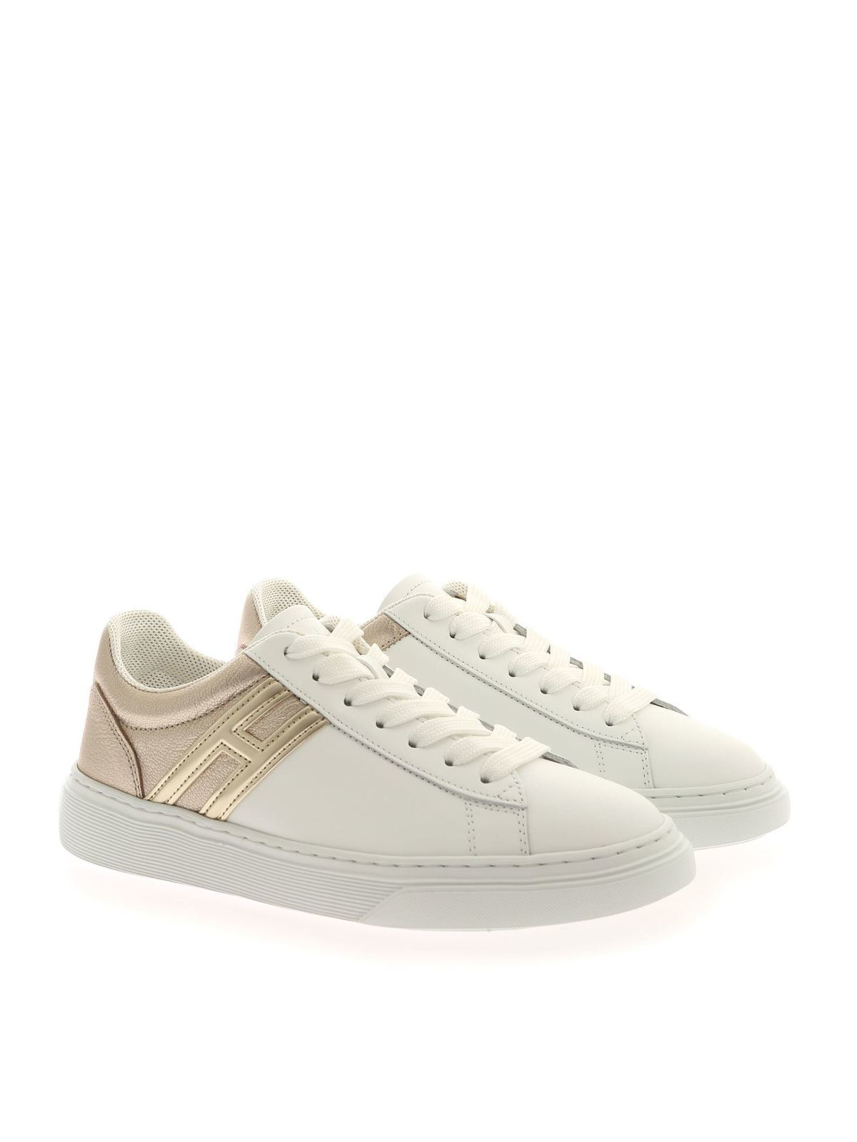 Hogan - H365 sneakers in white and platinum color - trainers ...