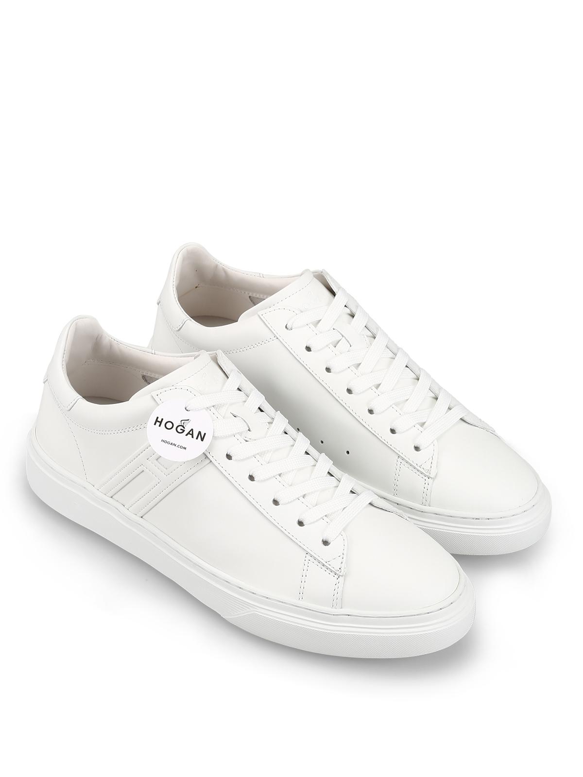 HOGAN scarpe uomo Sneaker H365 in pelle bianco HXM3650BD60KO74266