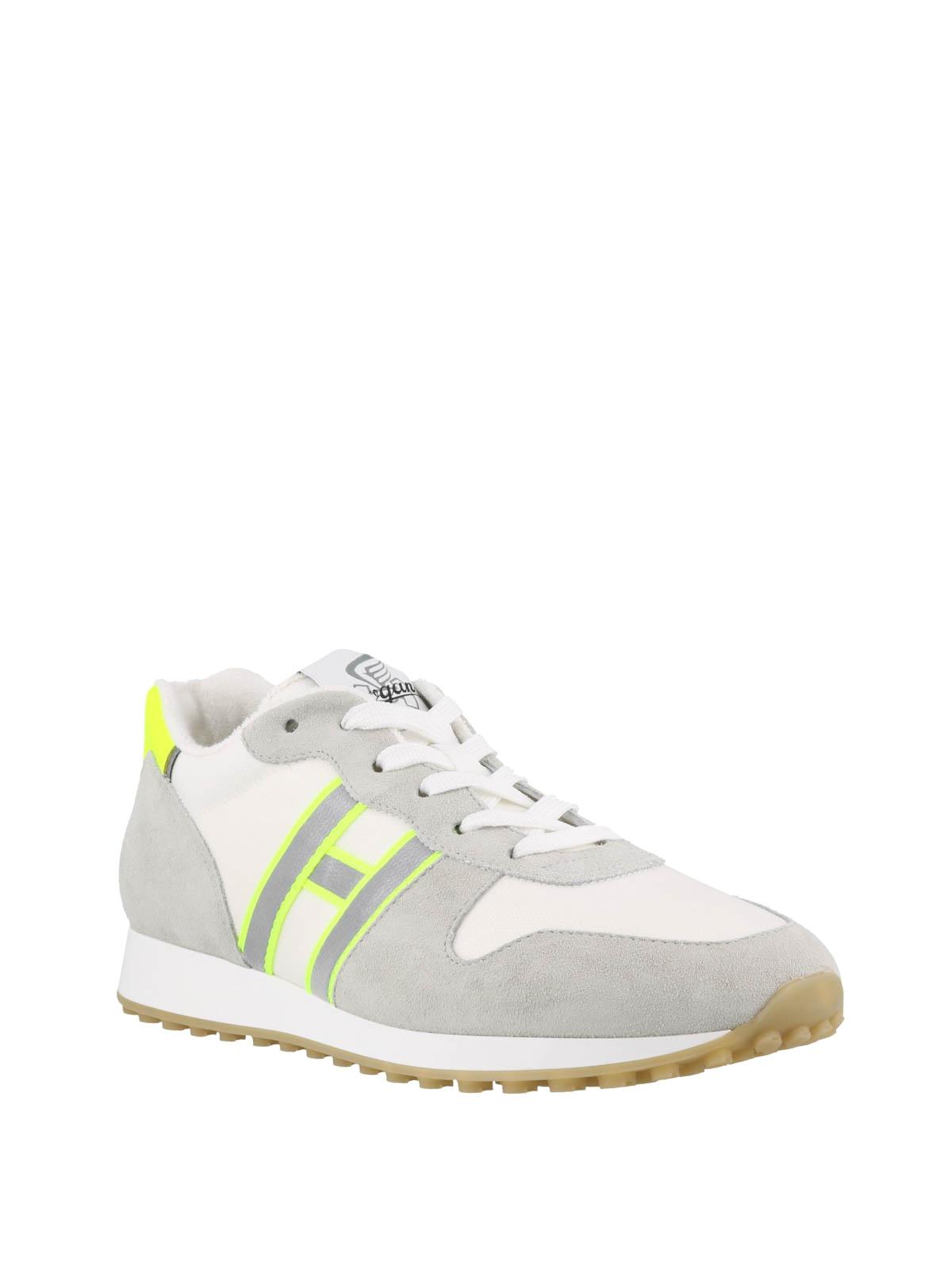 Hogan Sneaker H383 grigio chiaro in camoscio sneakers