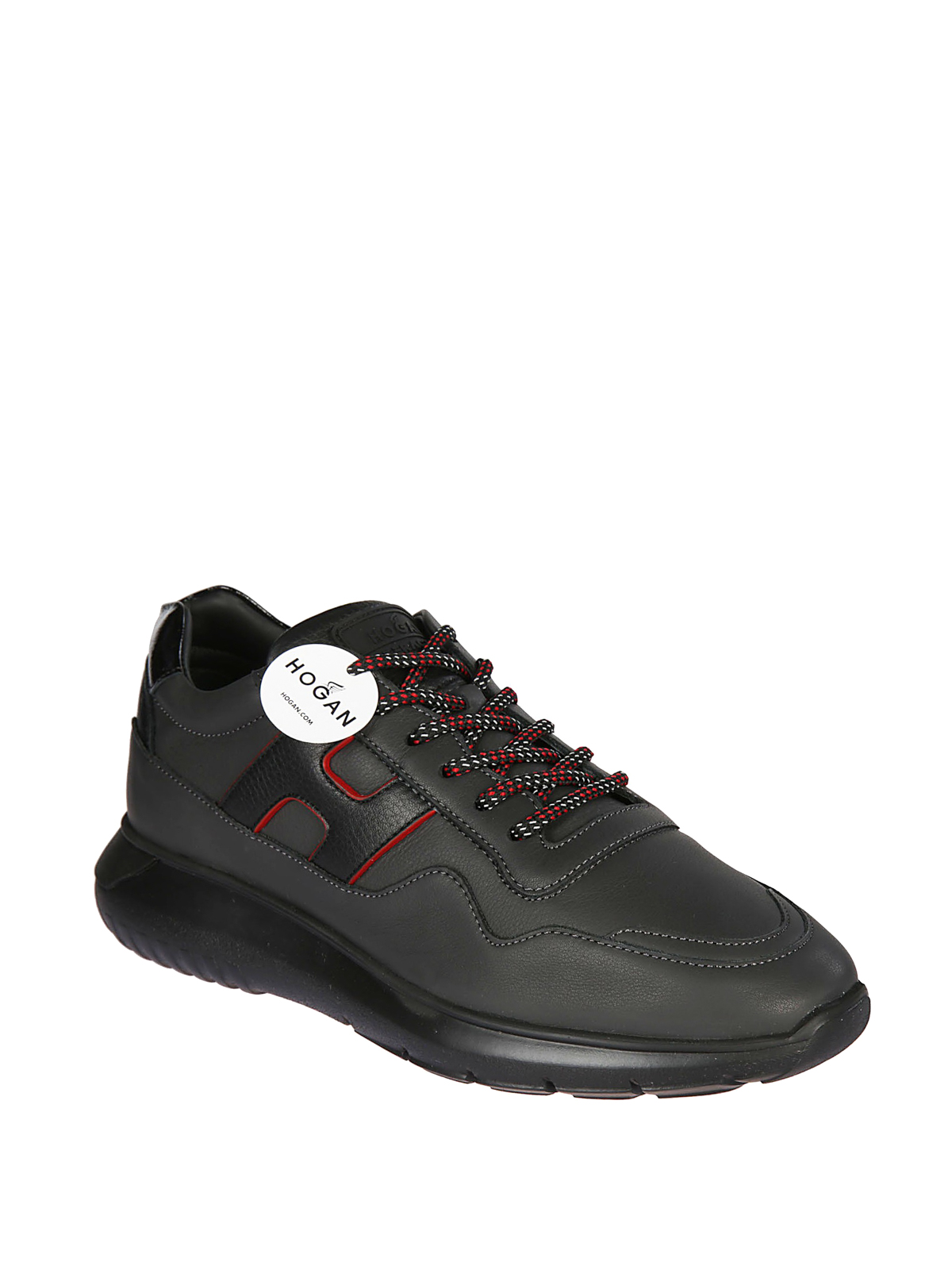 Hogan Interactive 179 Black Leather Sneakers Trainers