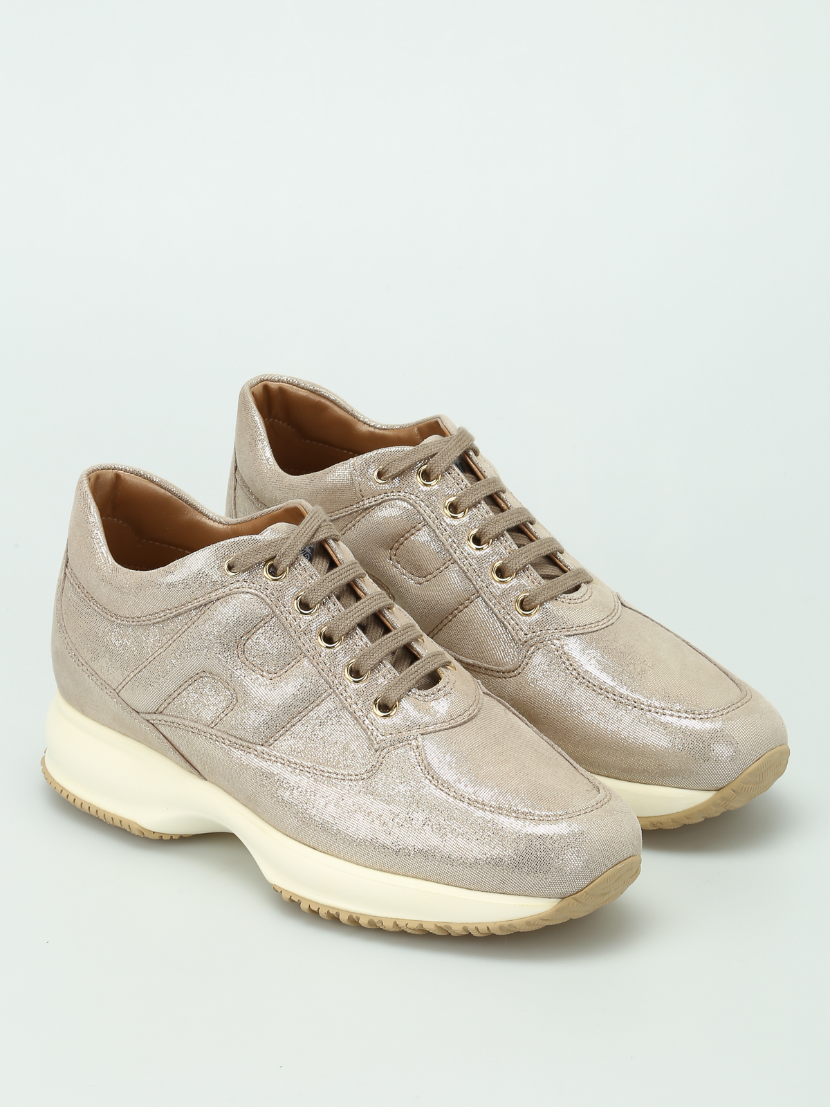 Hogan - Interactive light gold sneakers - trainers - HXW00N00010FEVG005 0a47217a053