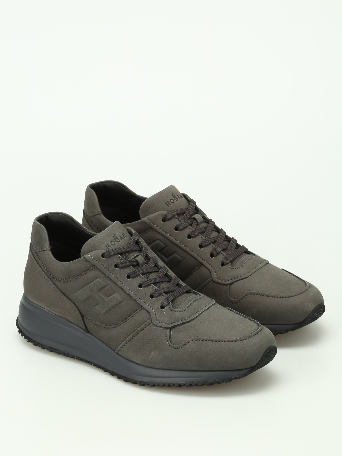 Trainers Hogan - Interactive N20 leather sneakers - HXM2460Y7806RNB612