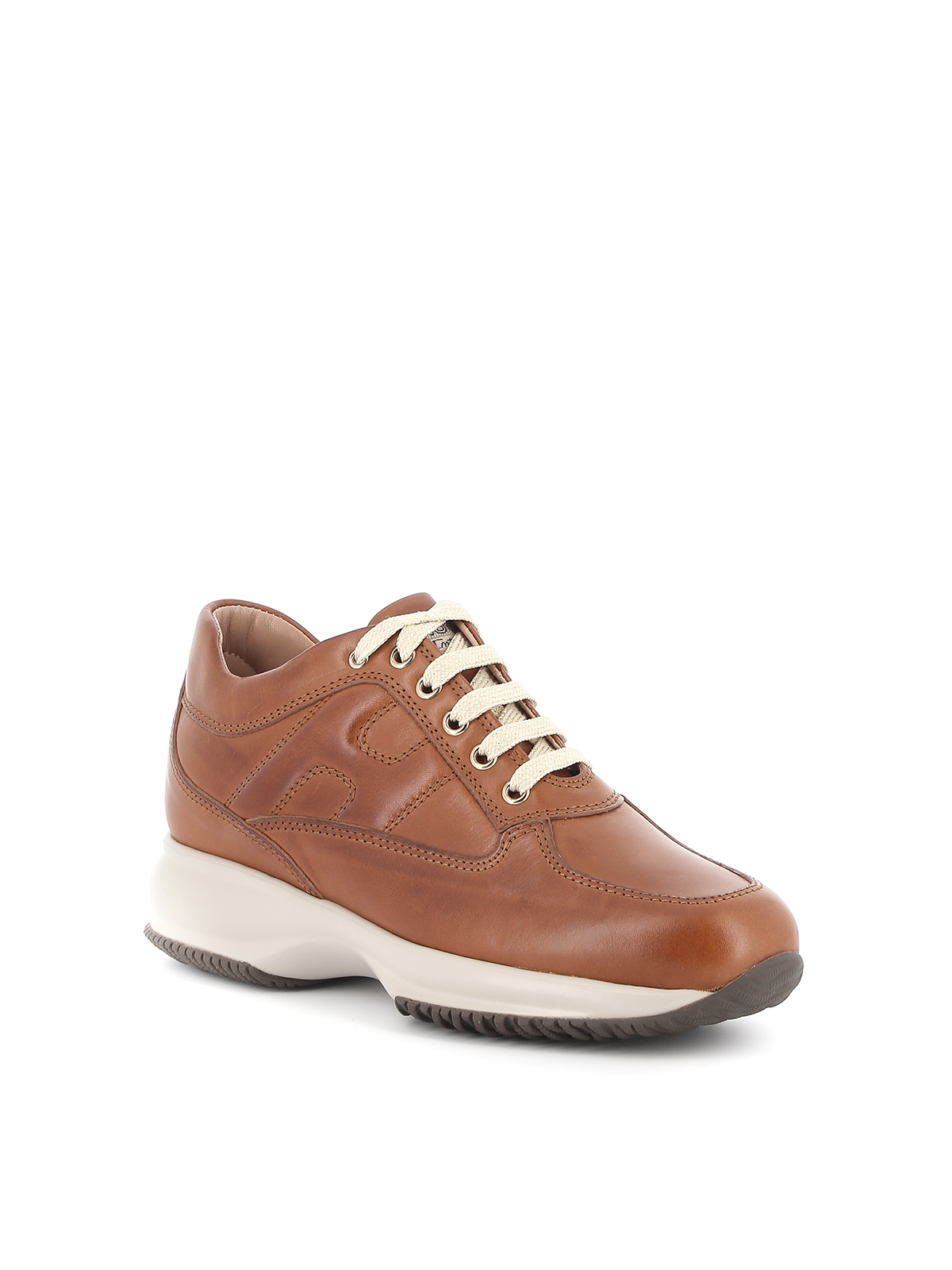 Hogan - Interactive shaded leather sneakers - trainers ...