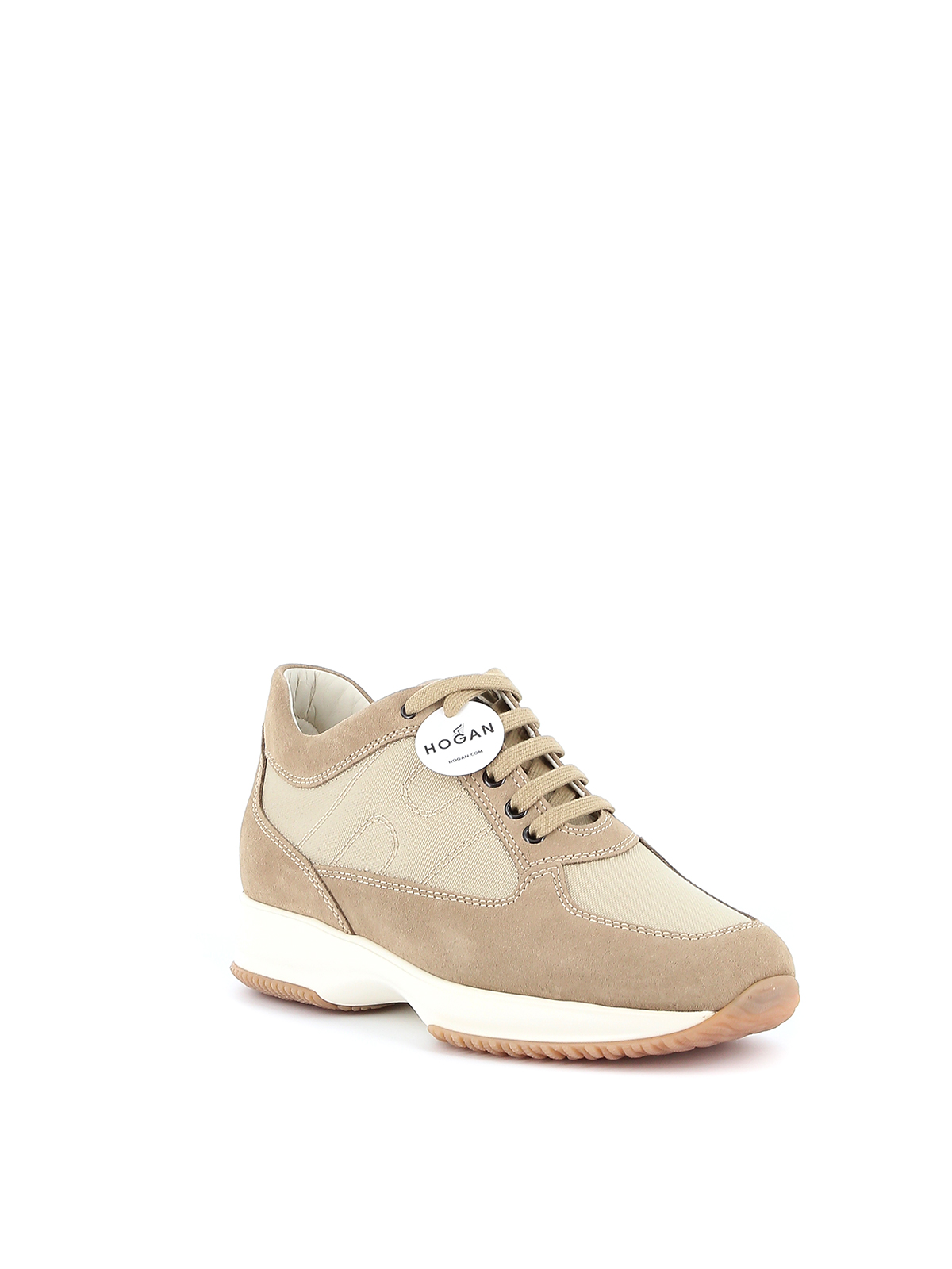 Hogan - Interactive suede and canvas sneakers - trainers ...