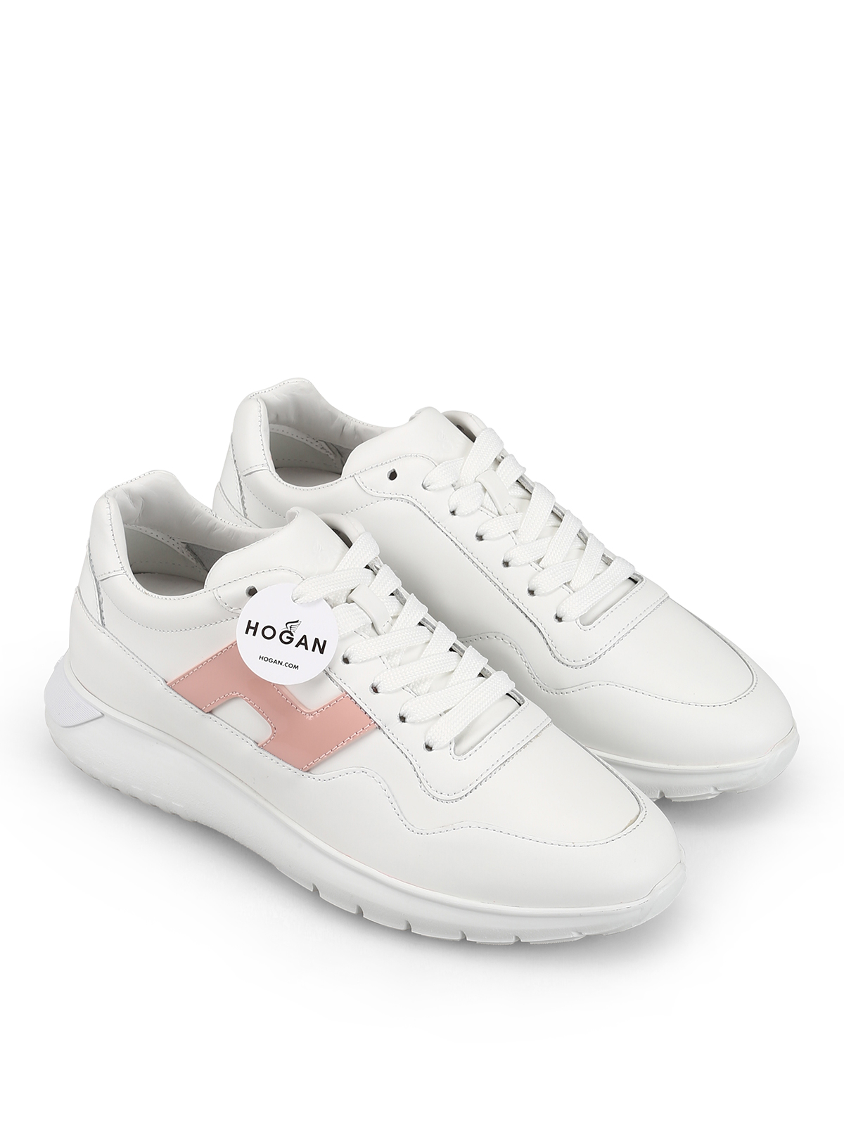 Hogan - Sneaker Interactive bianche con H in vernice - sneakers ...