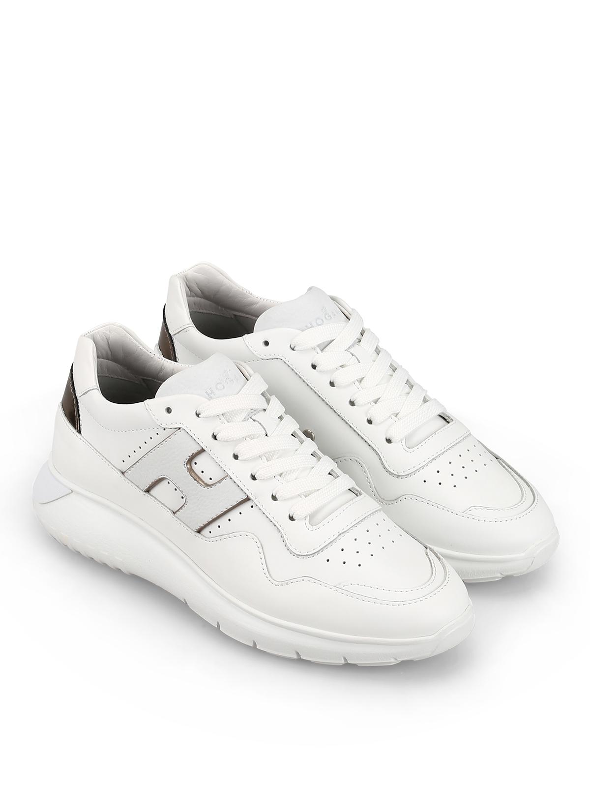 Sneakers Hogan - Sneaker Interactive³ bianche in pelle ...