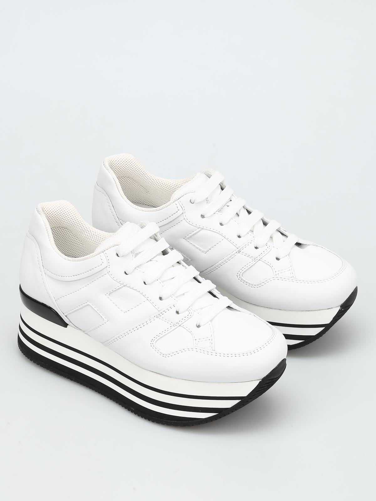 Hogan - Maxi 222 leather sneakers - trainers - GYW2830T541BTLB001