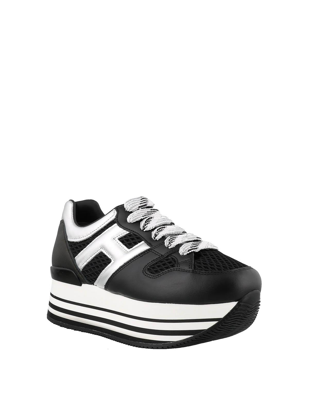 Sneakers Hogan - Sneaker Maxi H222 in pelle e tessuto ...