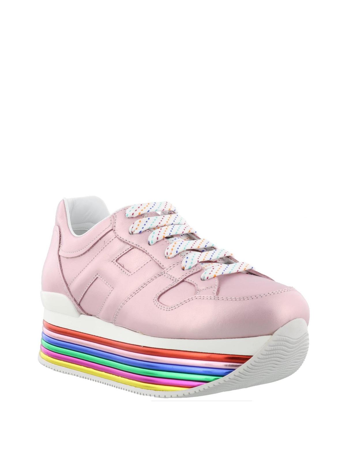 Hogan - Maxi H222 pink metallic sneakers - trainers - GYW3520T548SV0M417 407247f28f9