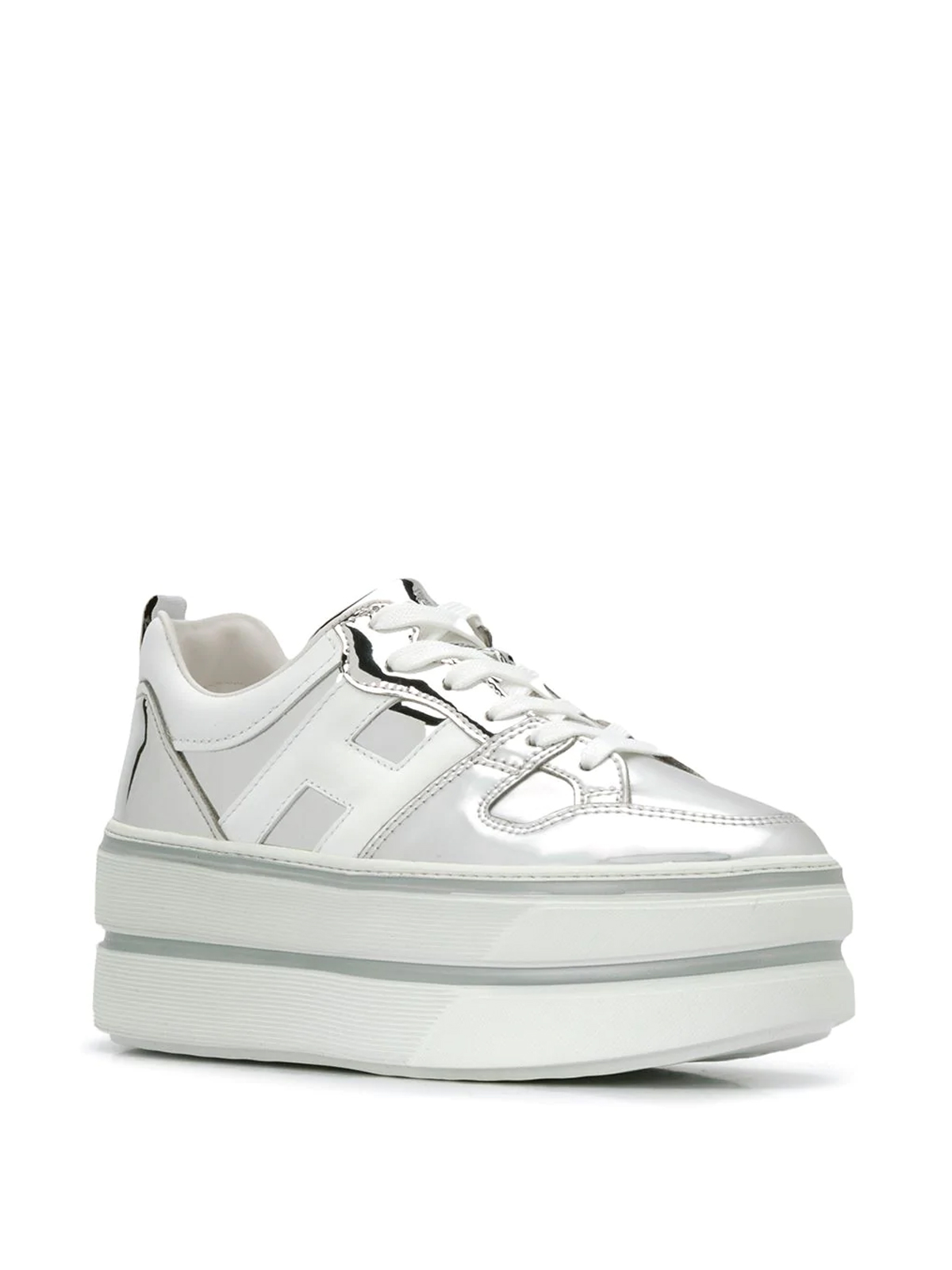Trainers Hogan - Maxi H449 patent leather platform sneakers ...