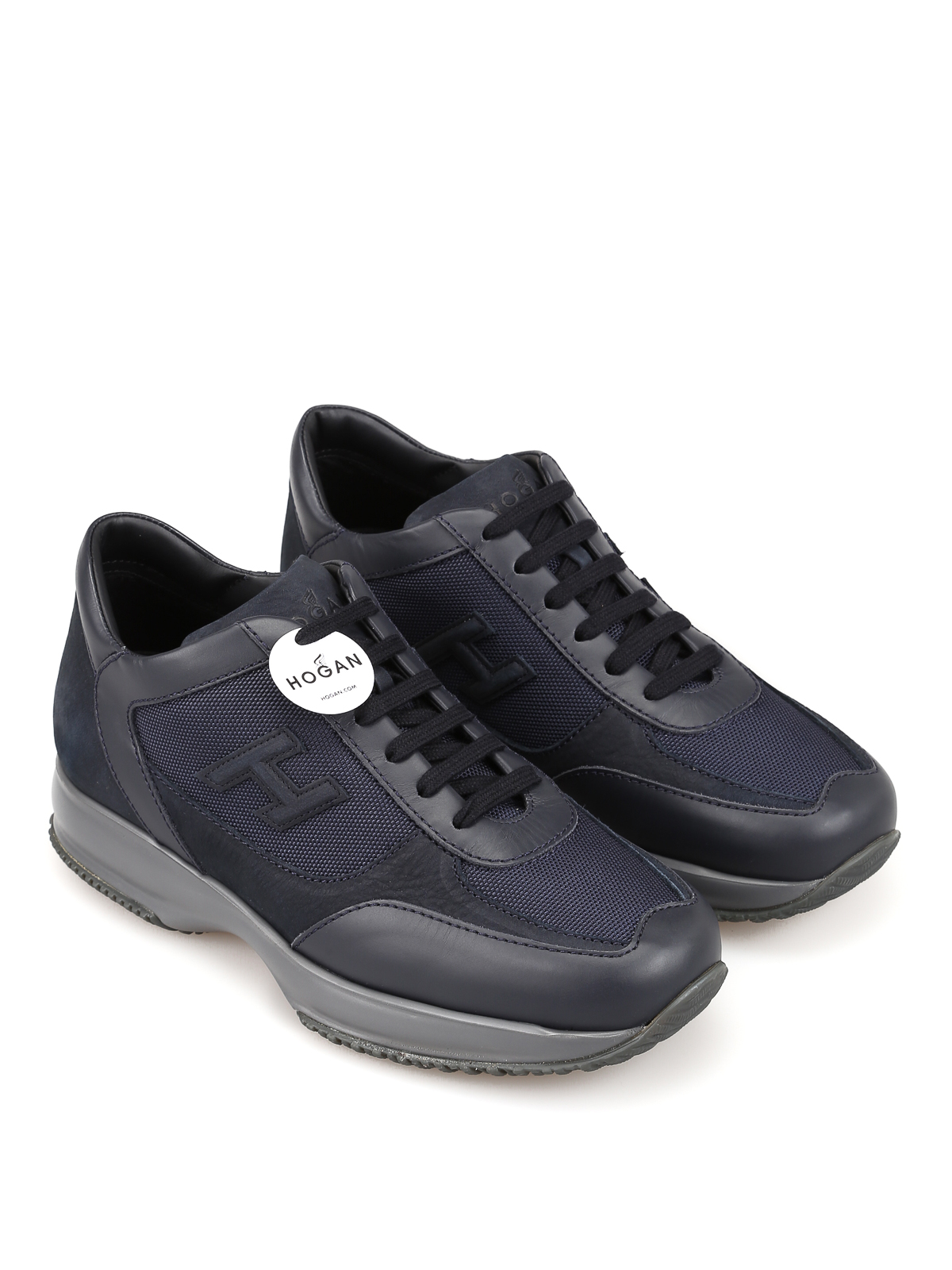 Sneakers Hogan - Sneaker New Interactive blu denim ...