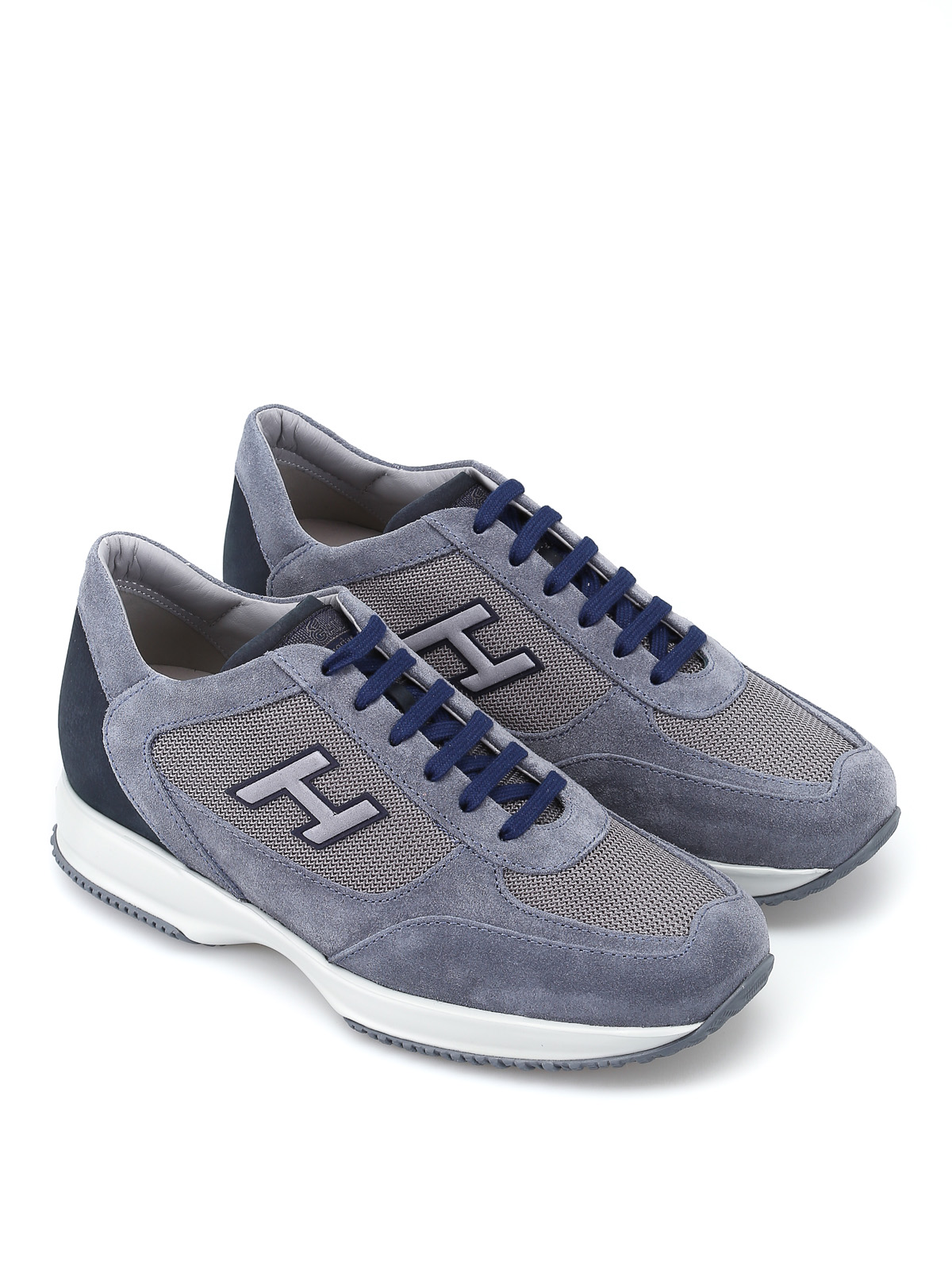 5e6ceef57a09 HOGAN  trainers online - New Interactive H Flock blue shoes