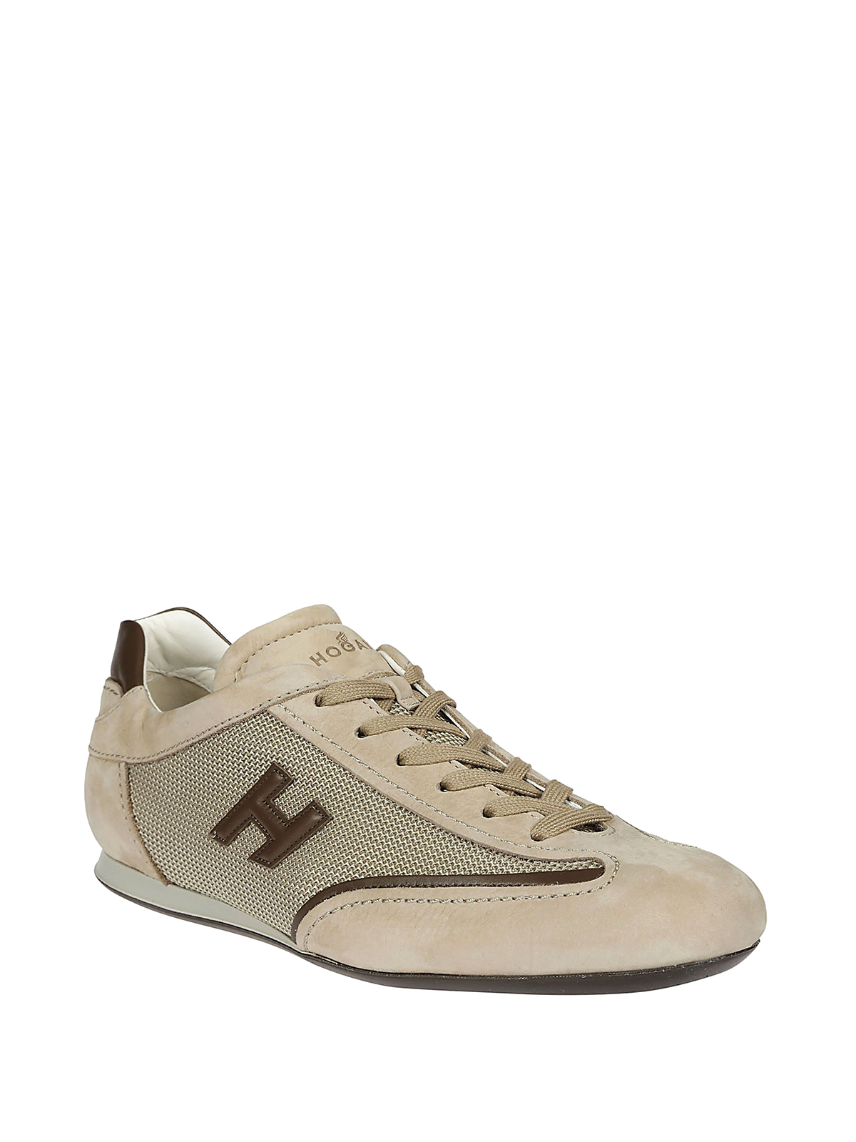 Sneakers Hogan - Sneaker Olympia in nabuk beige - HXM0520I974IGK0PCL