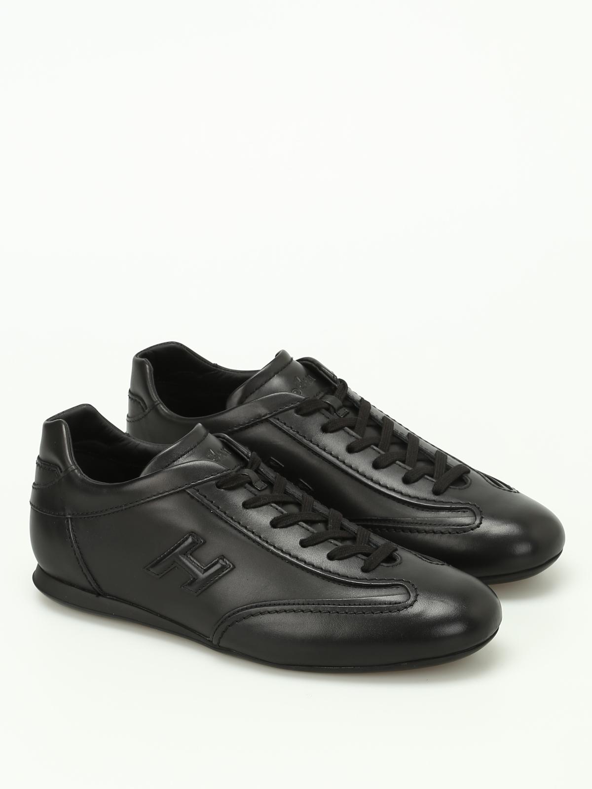 Trainers Hogan - Olympia black leather sneakers - HXM0570I9721POB999