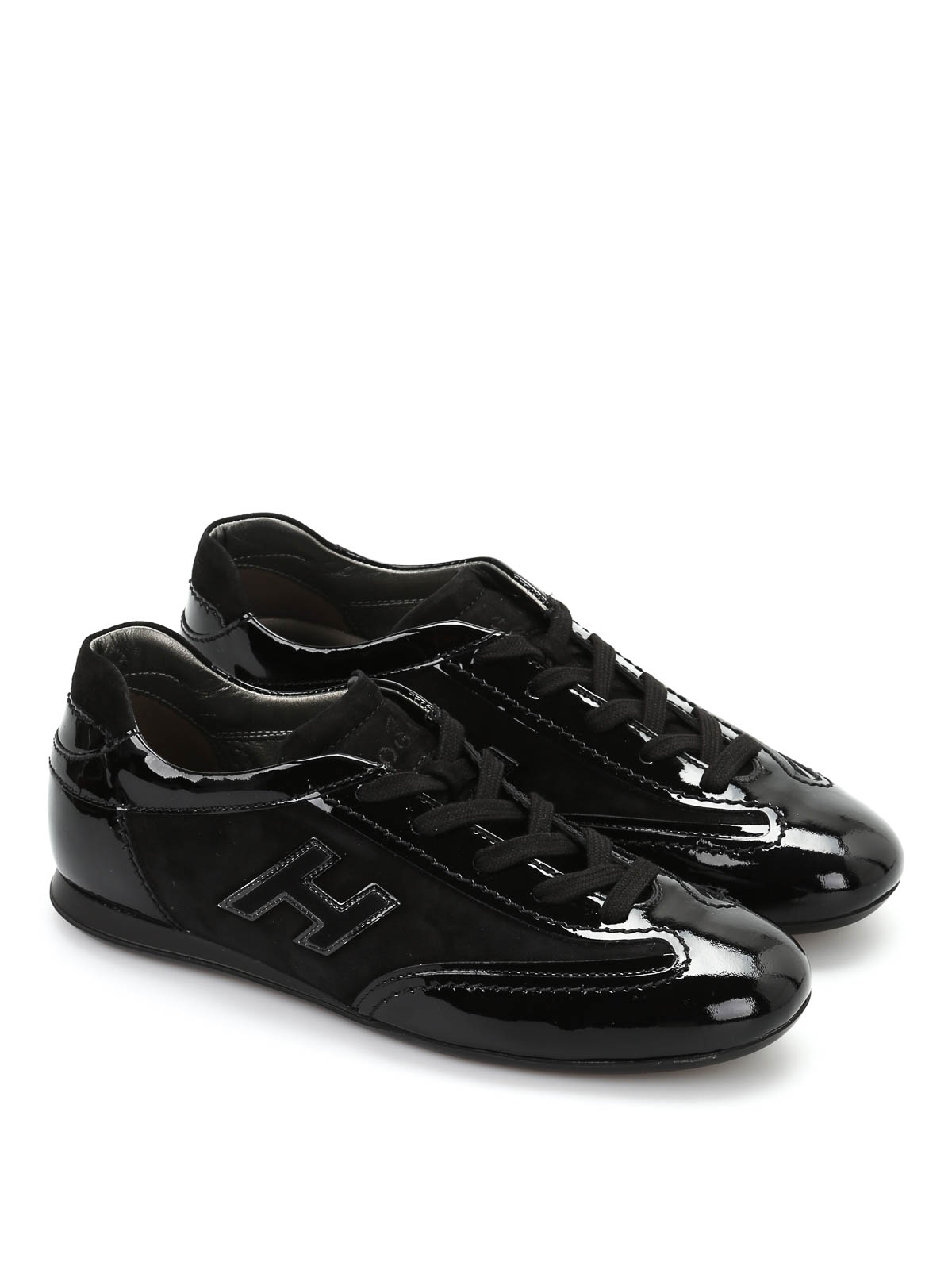 Hogan Olympia Patent Leather Sneakers Trainers