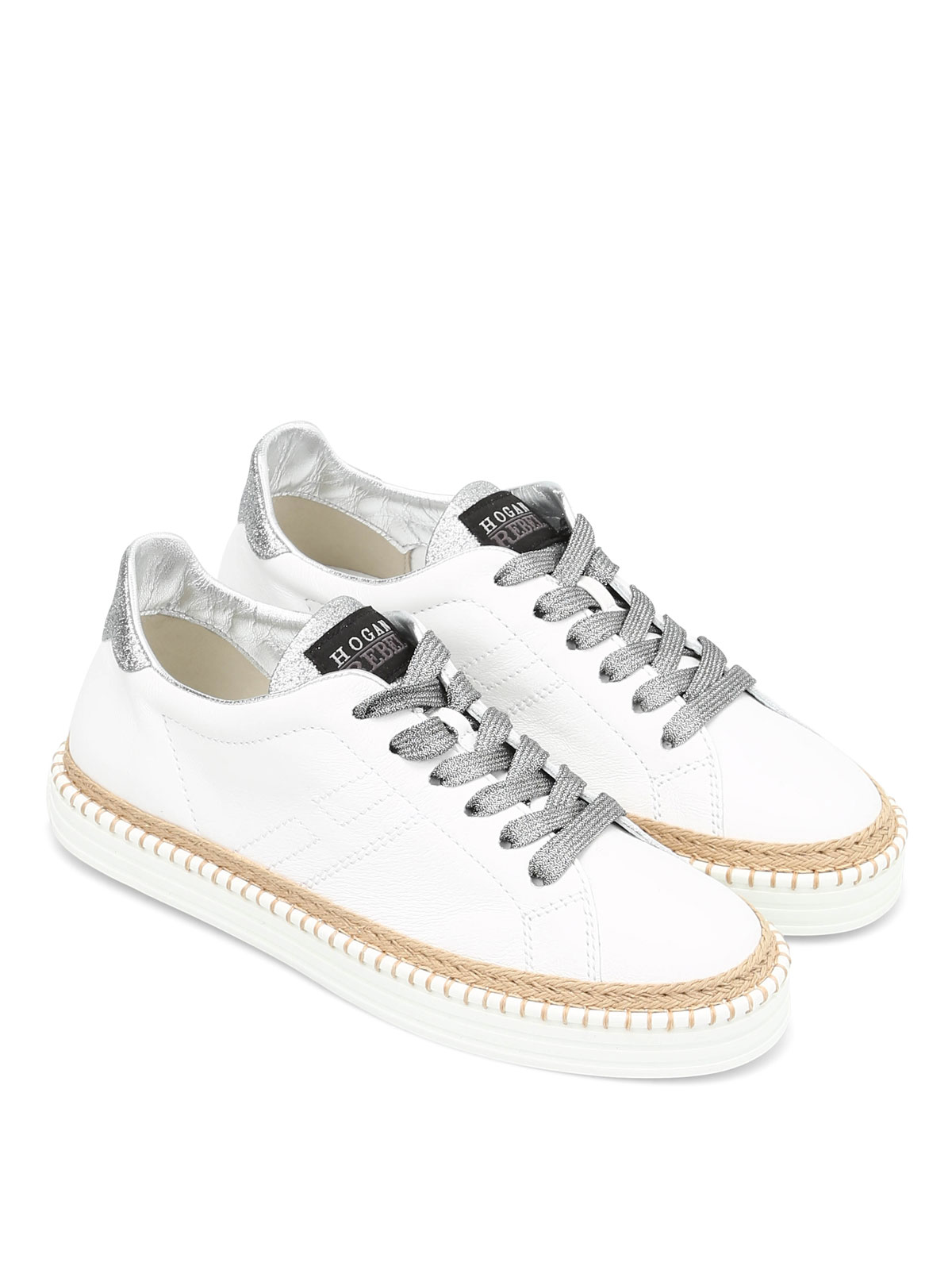 Hogan - R260 leather and rope trainers - trainers - HXW2600U560FPP0351