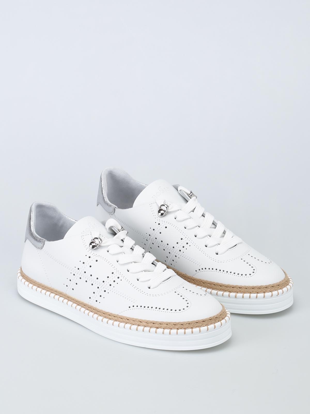 Hogan - Sneaker R260 bianche in pelle - sneakers - HXW2600AD30IGG0351 5526ebb4a2f