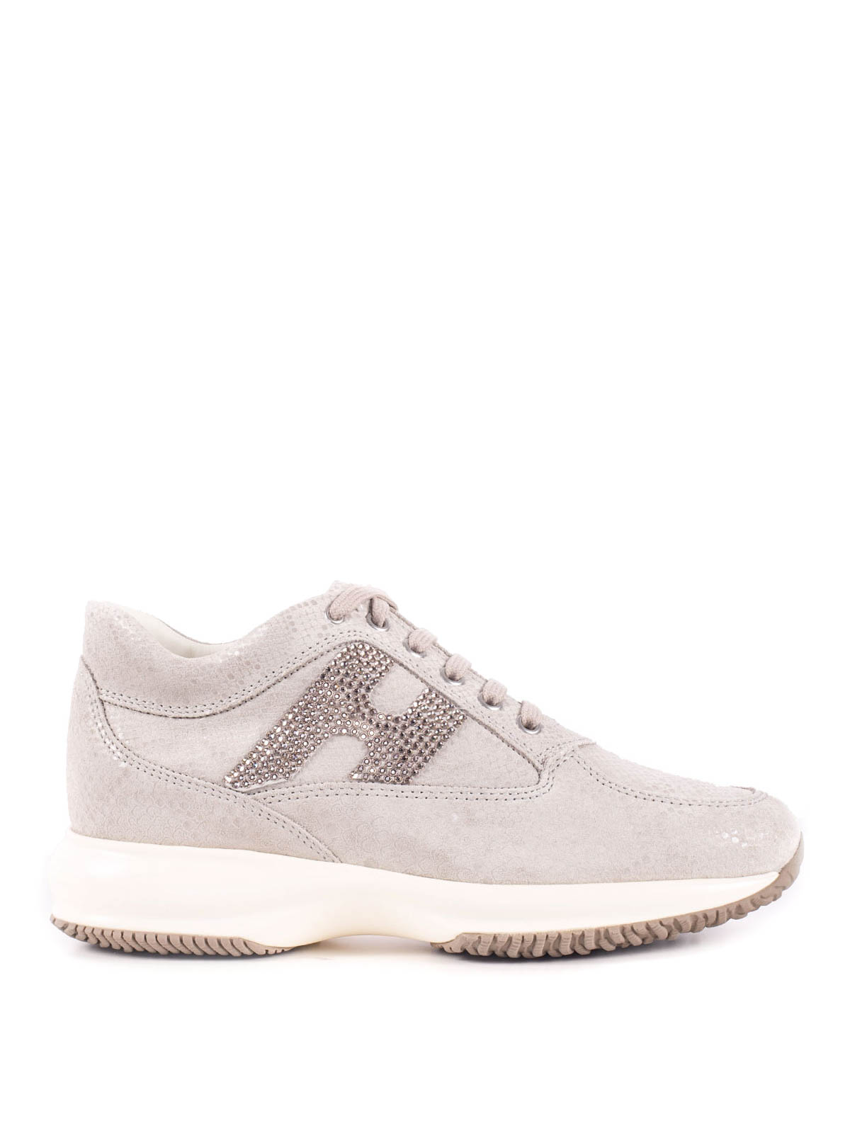 Hogan - Interactive stampa pitone H strass - sneakers ...