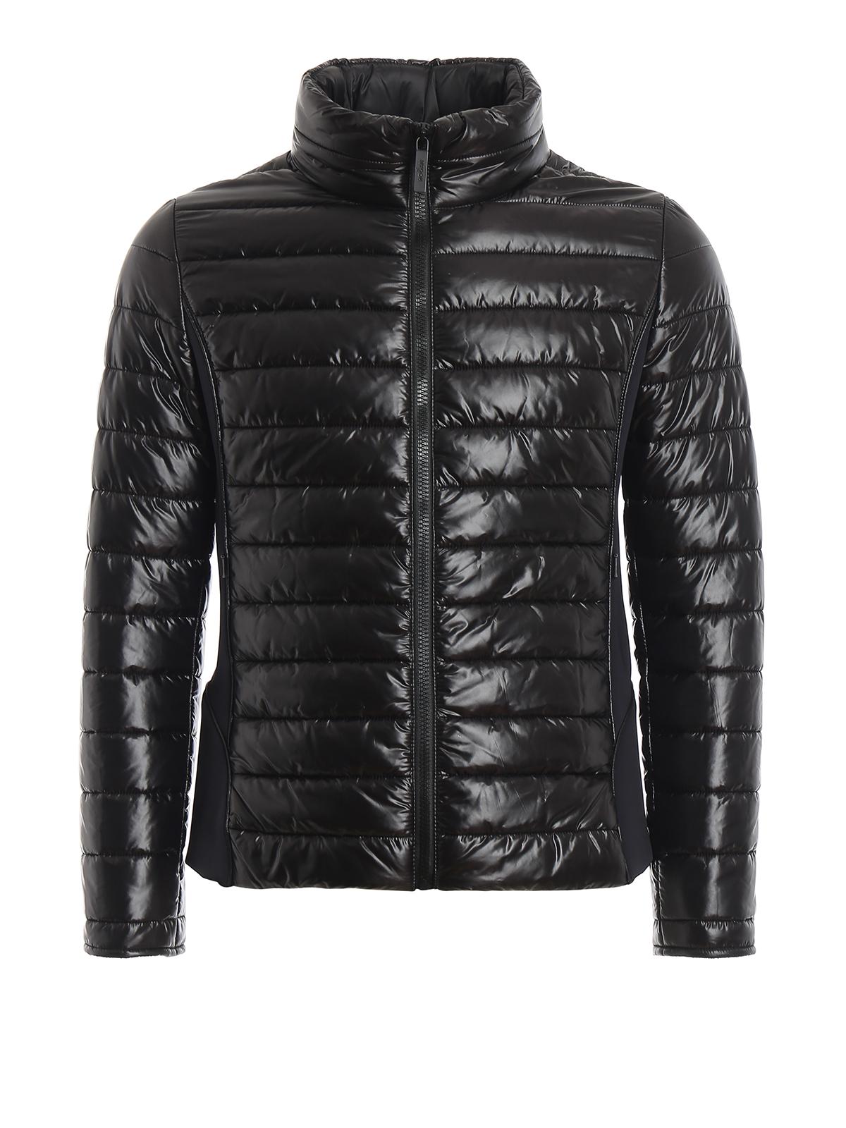 Hogan Rubber Logo Patch Black Light Puffer Jacket