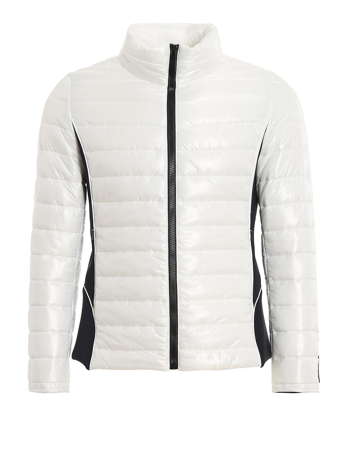 Hogan Rubber Logo Patch Light Puffer Jacket In White