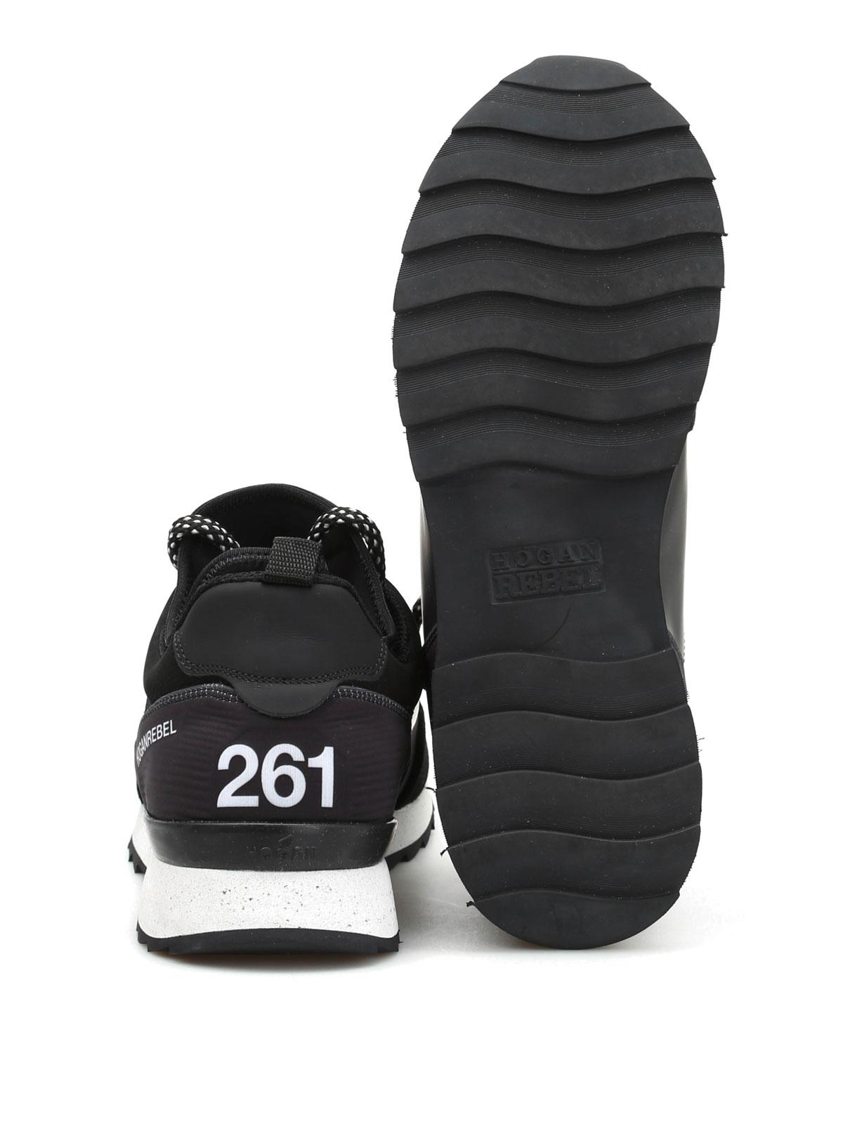 Hogan Rebel - Running R261 in multitessuto - sneakers - HXM2610V420 ... d9df44e74e7