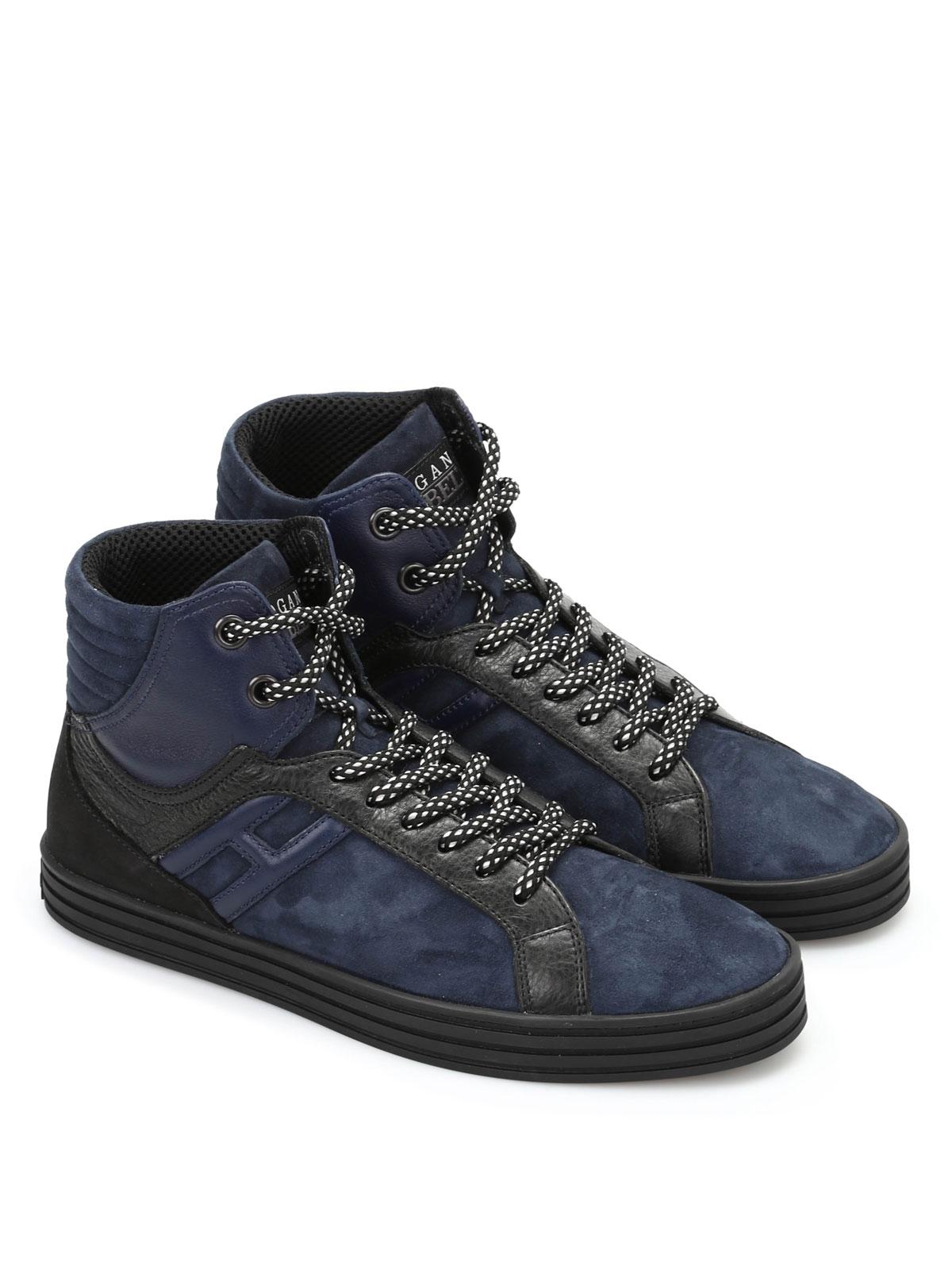 Hogan Rebel - R141 Basket - sneakers - HXM1410R283DWH0XD5  02ea4ffa17f