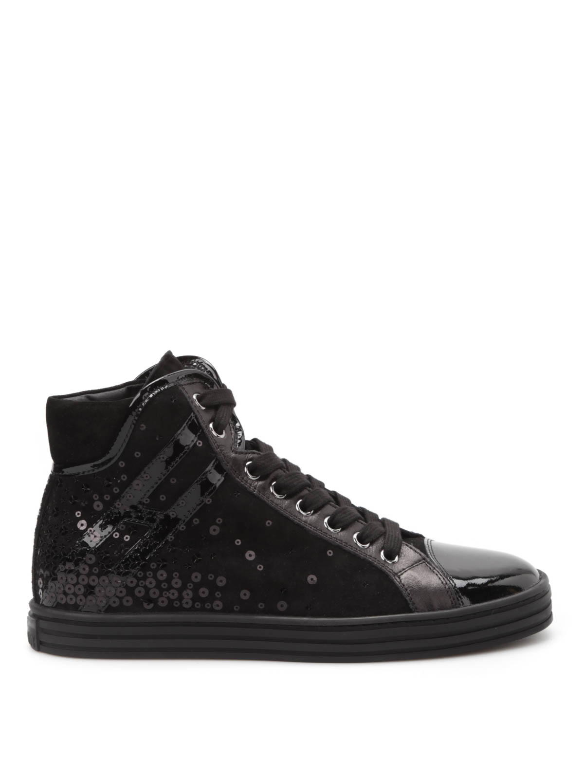 Trainers Hogan Rebel - R182 Paillettes high-top sneakers ...