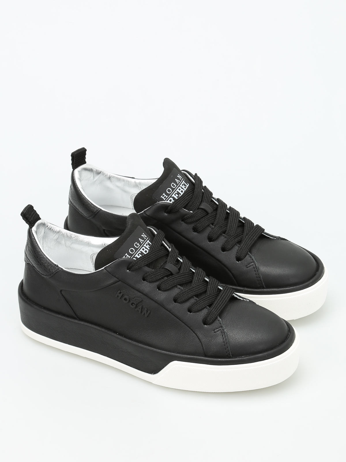 Trainers Hogan Rebel - R320 leather sneakers - HXW3200X630G6CB999