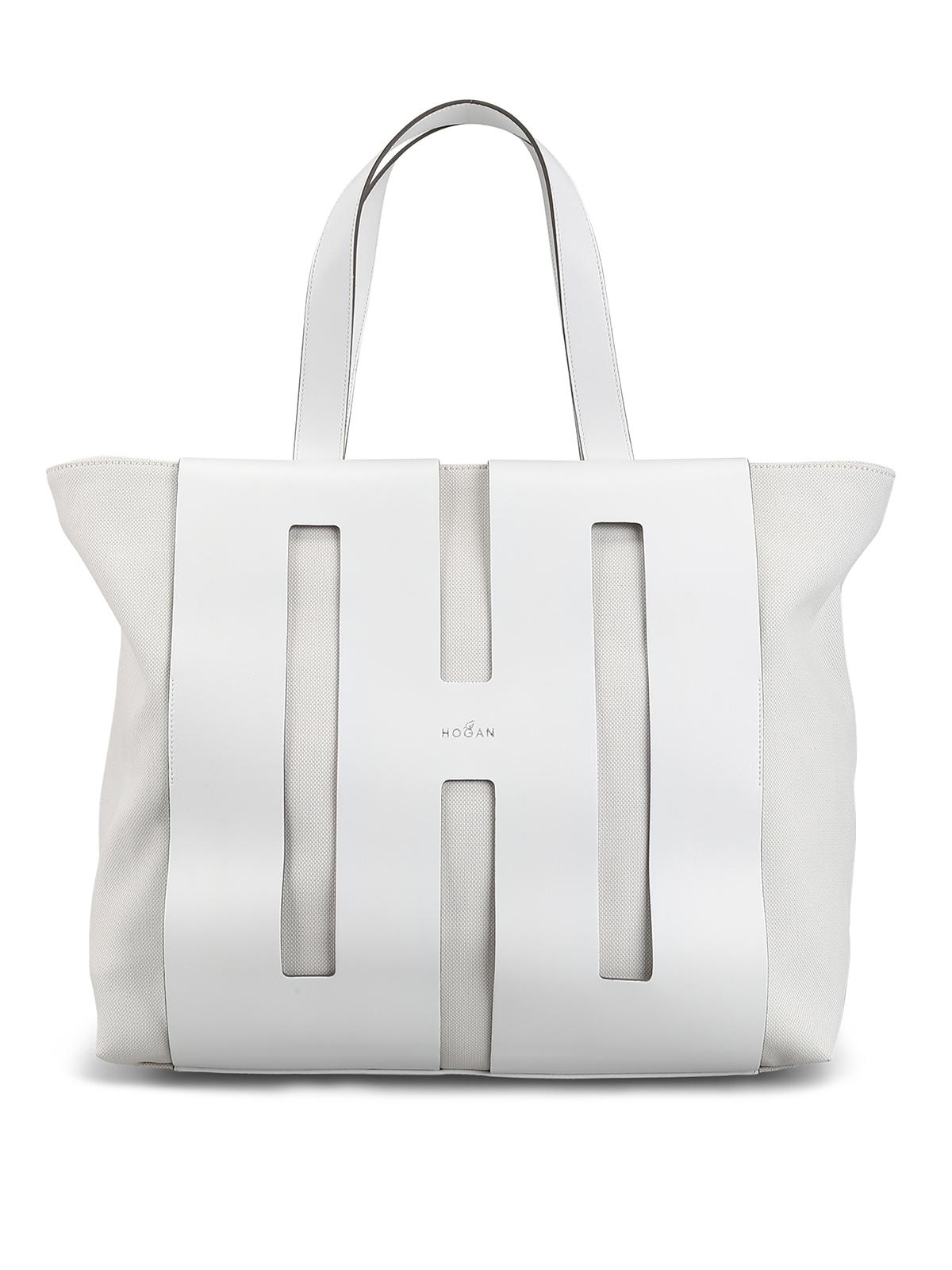 nouveau produit 106a1 03c93 Hogan - Sac Cabas - Blanc - Sacs à main - KBW015A0400KSUB001 ...
