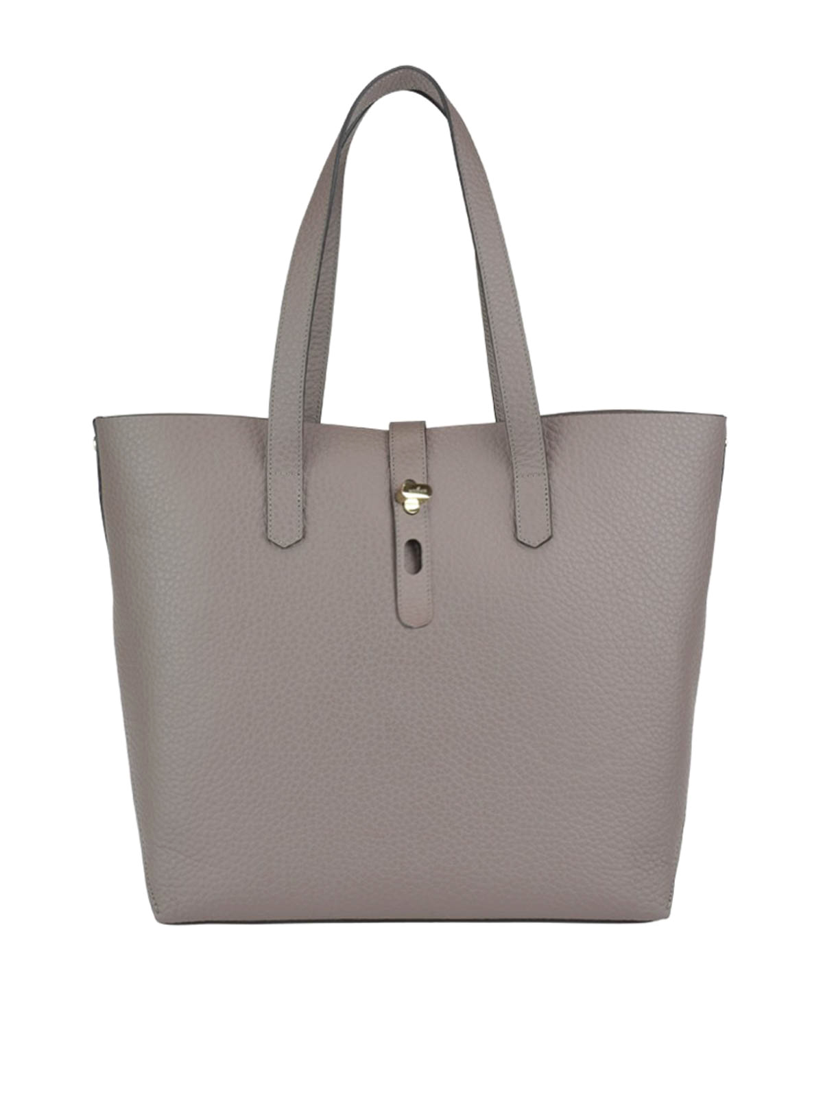HOGAN HAMMERED LEATHER TOTE