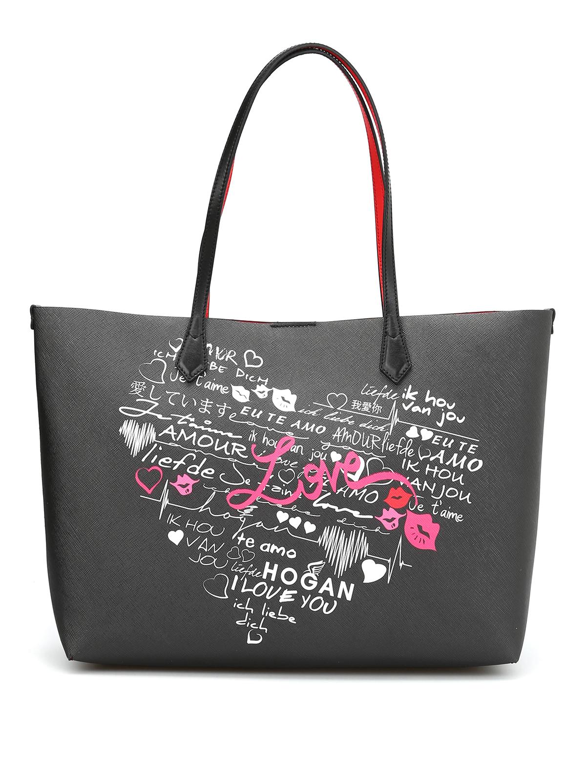 i love you tote bag by hogan totes bags ikrix. Black Bedroom Furniture Sets. Home Design Ideas