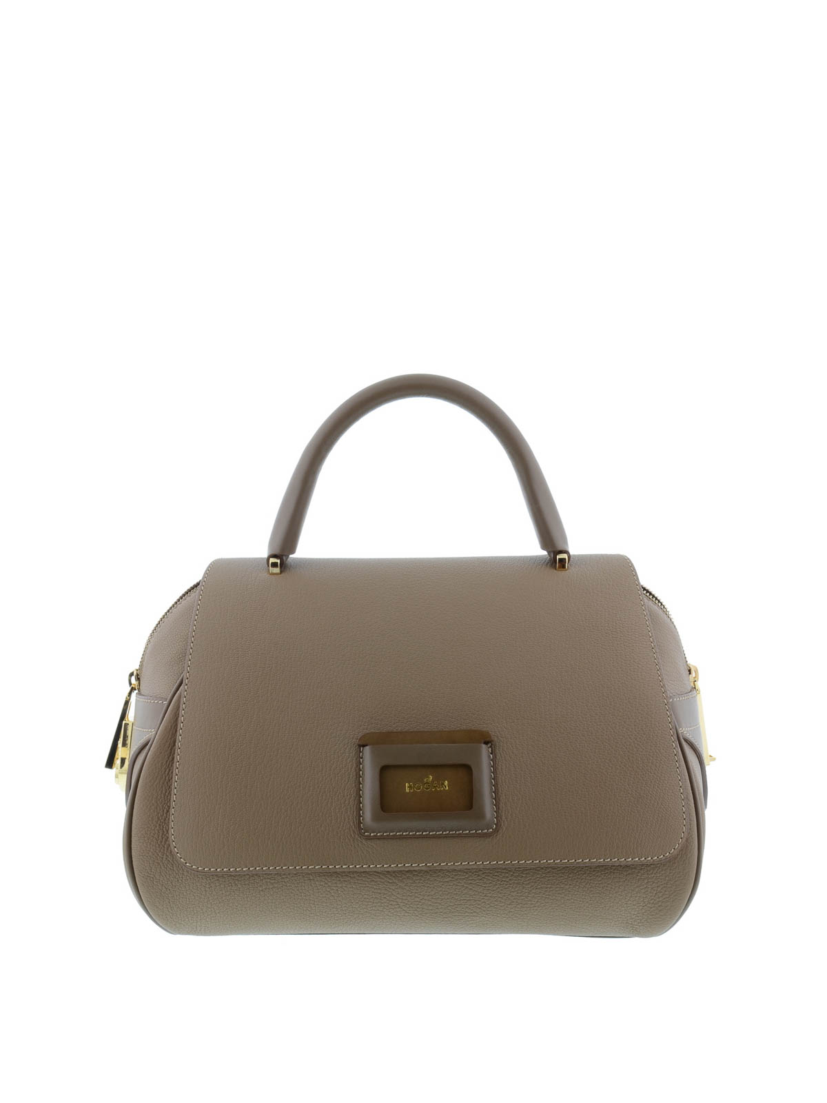leather logo tote by hogan totes bags ikrix
