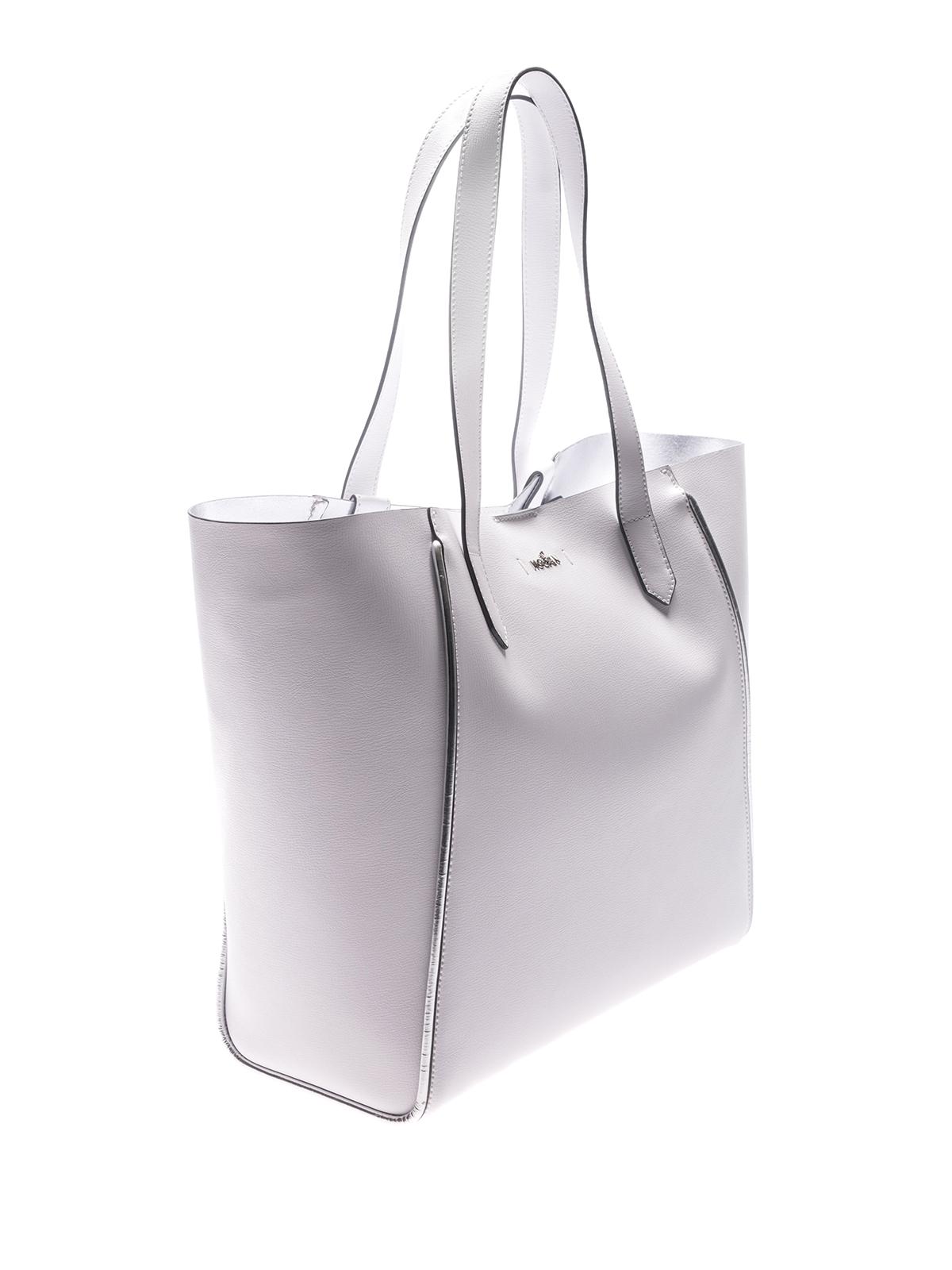 Hogan White leather shopping bag V5dEa