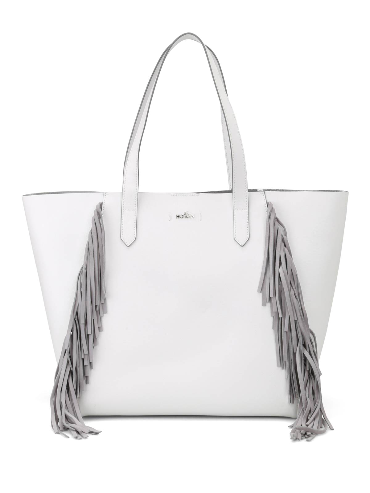 Hogan White tote with suede fringes COIChAh