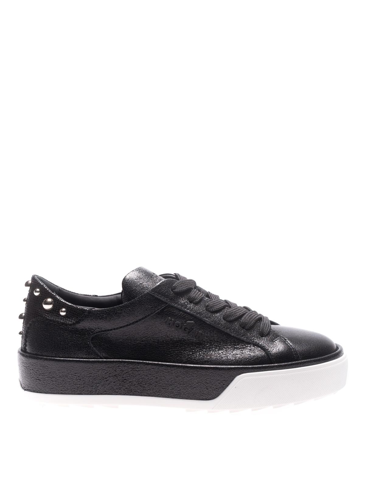 Sneakers Hogan - Sneaker nere in pelle con borchie ...