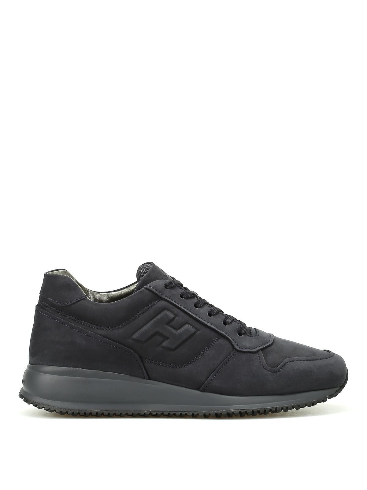 Sneakers Hogan - Sneaker Interactive N20 nabuk blu ...