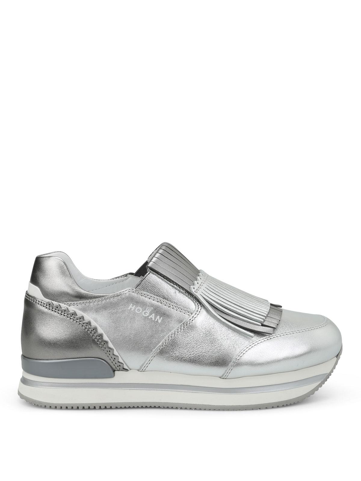 Sneakers Hogan - Slip-on H222 in pelle con frange - HXW2220X170FQC6798
