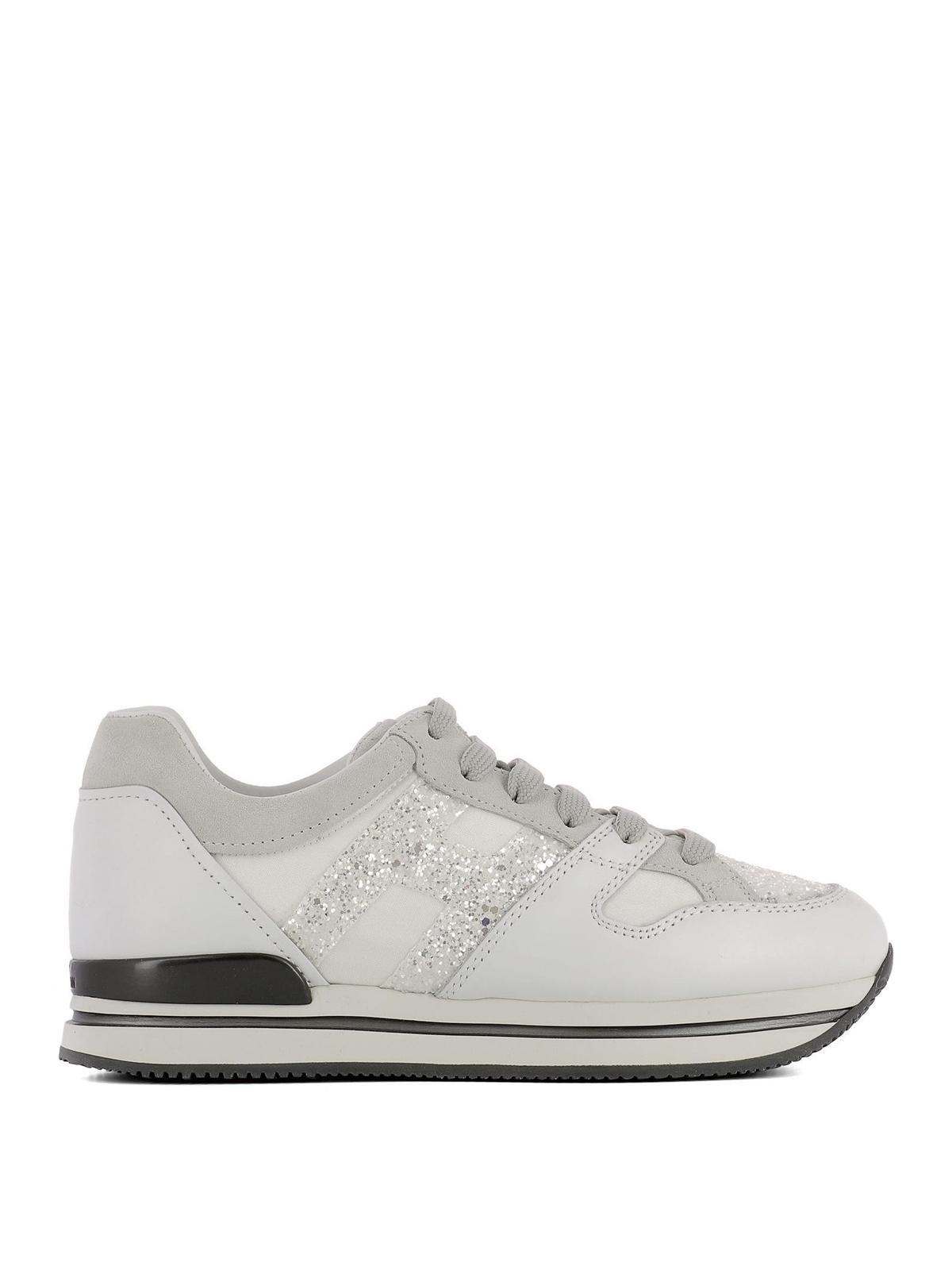 Hogan - H222 glitter H sneakers - trainers - HXW2220U352IVRB001