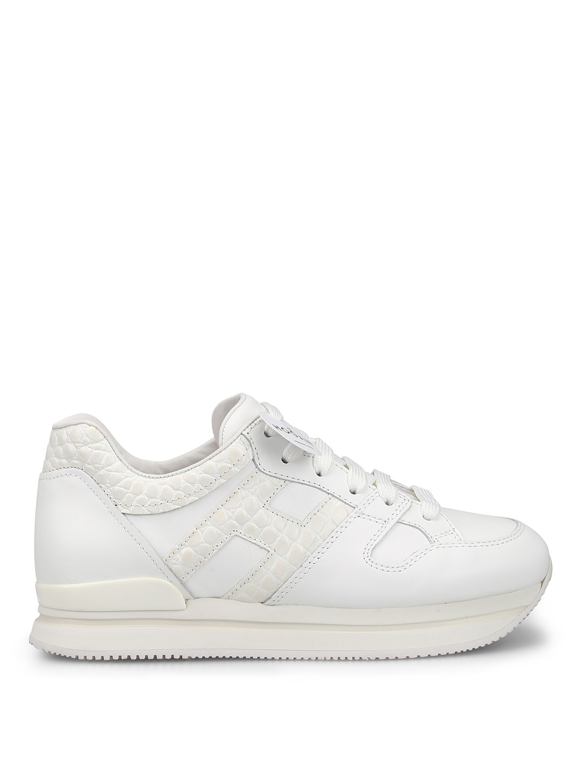 Hogan H222 White Leather Sneakers
