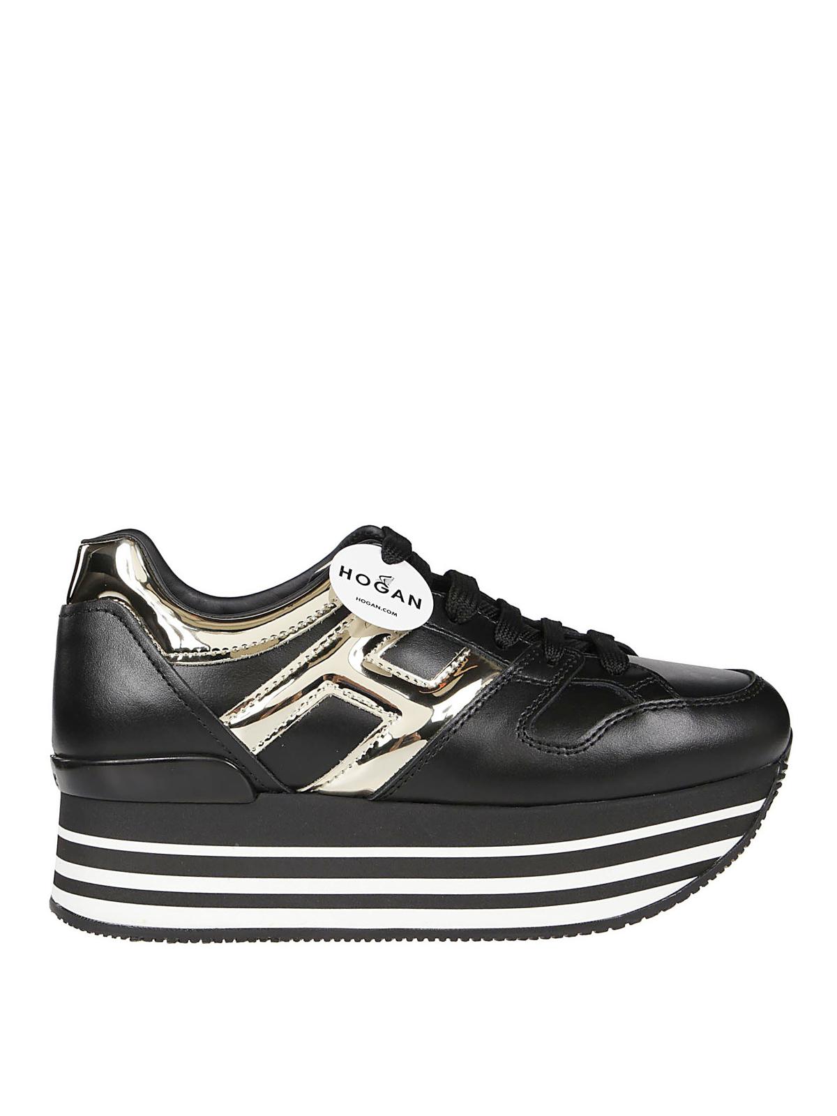 Hogan Sneaker nere e oro H283 Maxi H222 sneakers