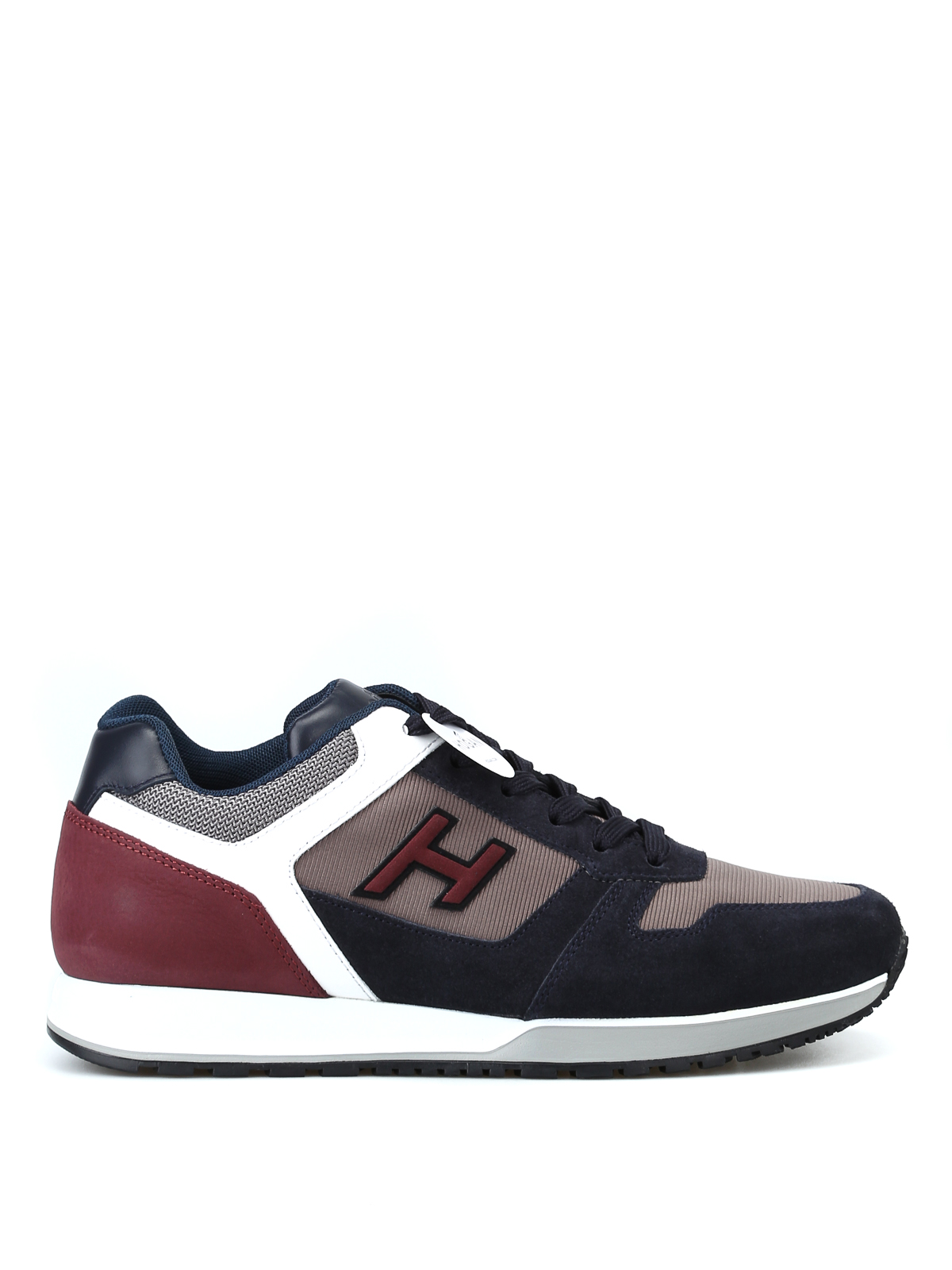 Hogan - H321 blue and burgundy sneakers - trainers ...