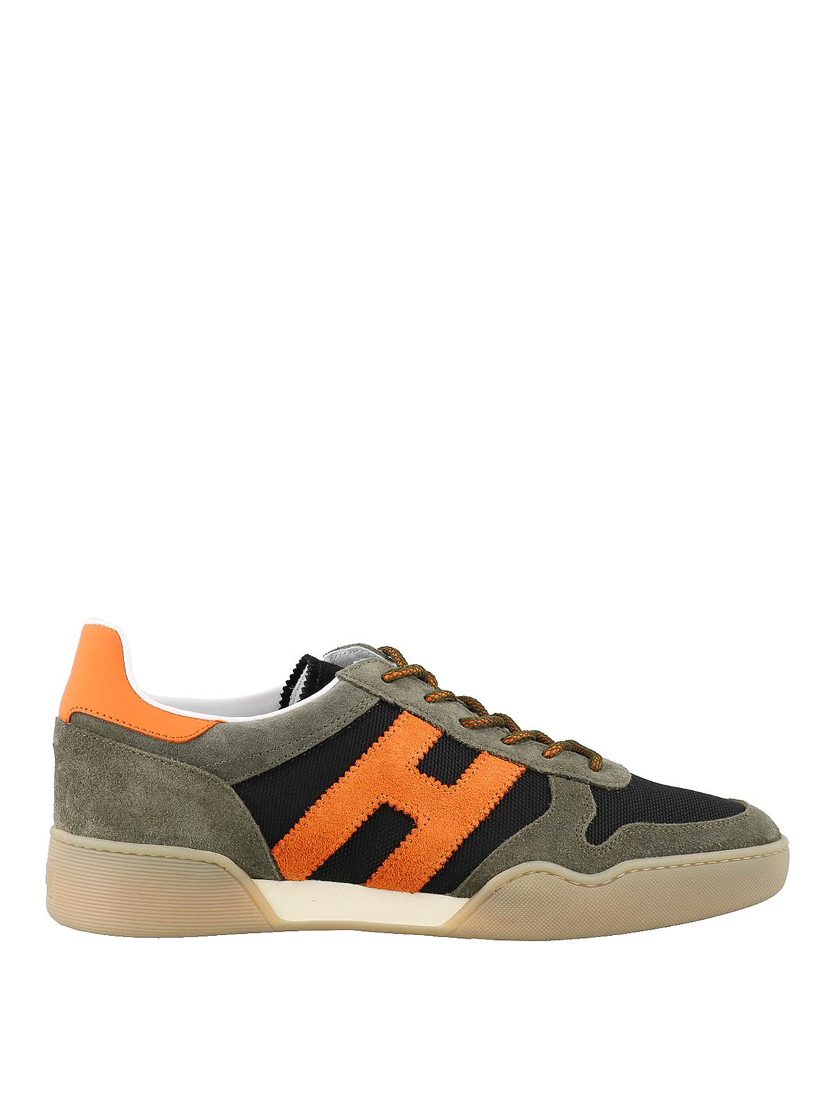 Hogan Sports H357 MULTICOLOUR SUEDE AND FABRIC SNEAKERS