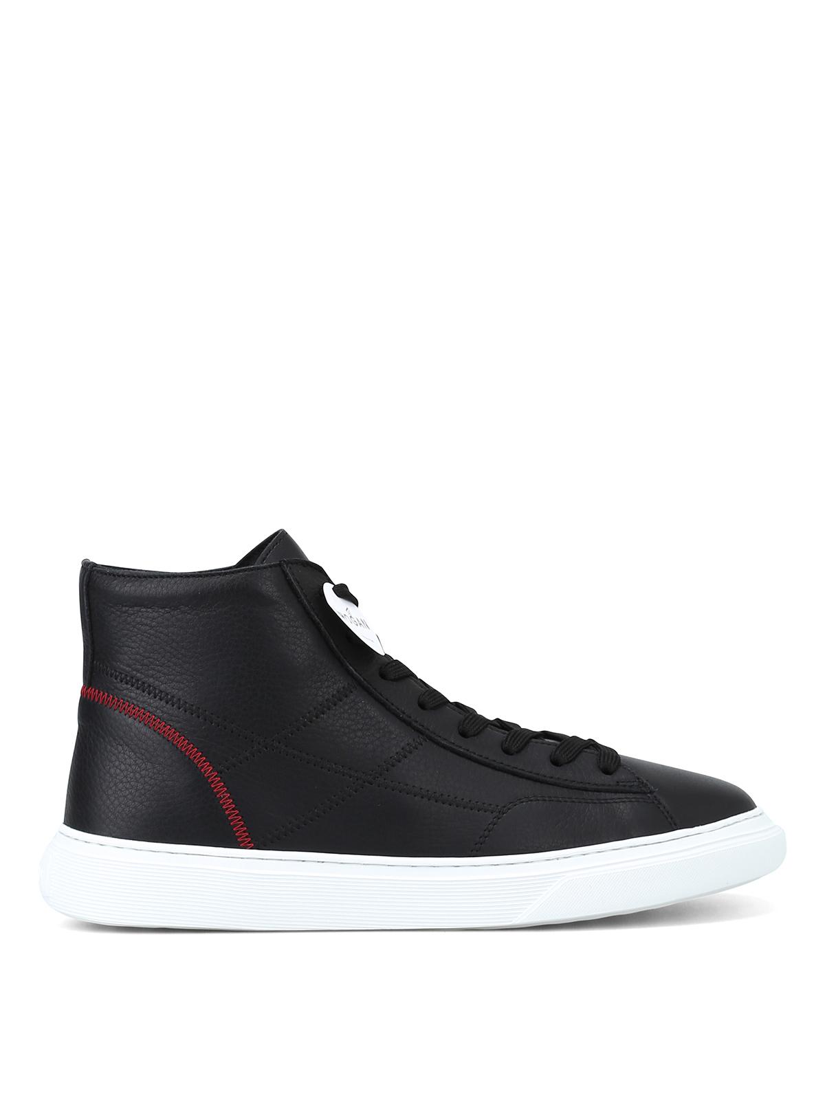 Sneakers Hogan - Sneaker alte H365 nere con impunture ...