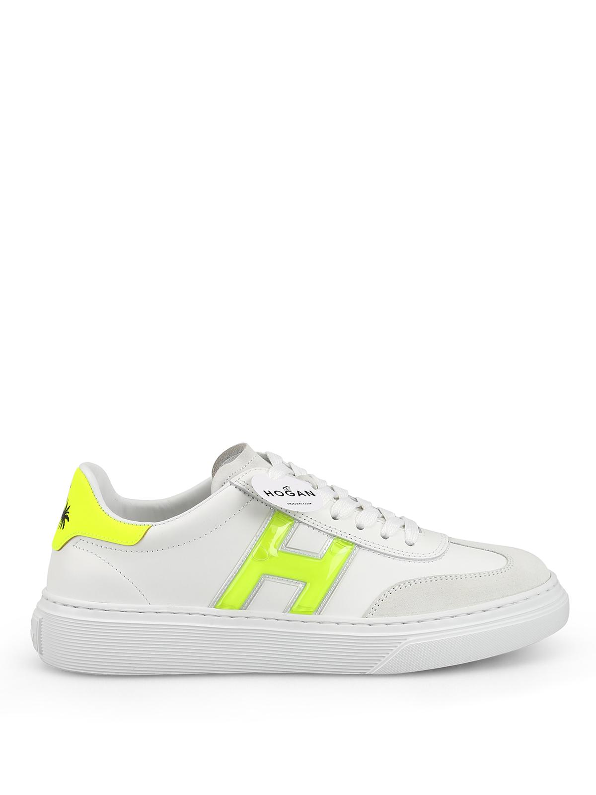 Sneakers Hogan - Sneaker H365 in pelle con dettagli fluo ...
